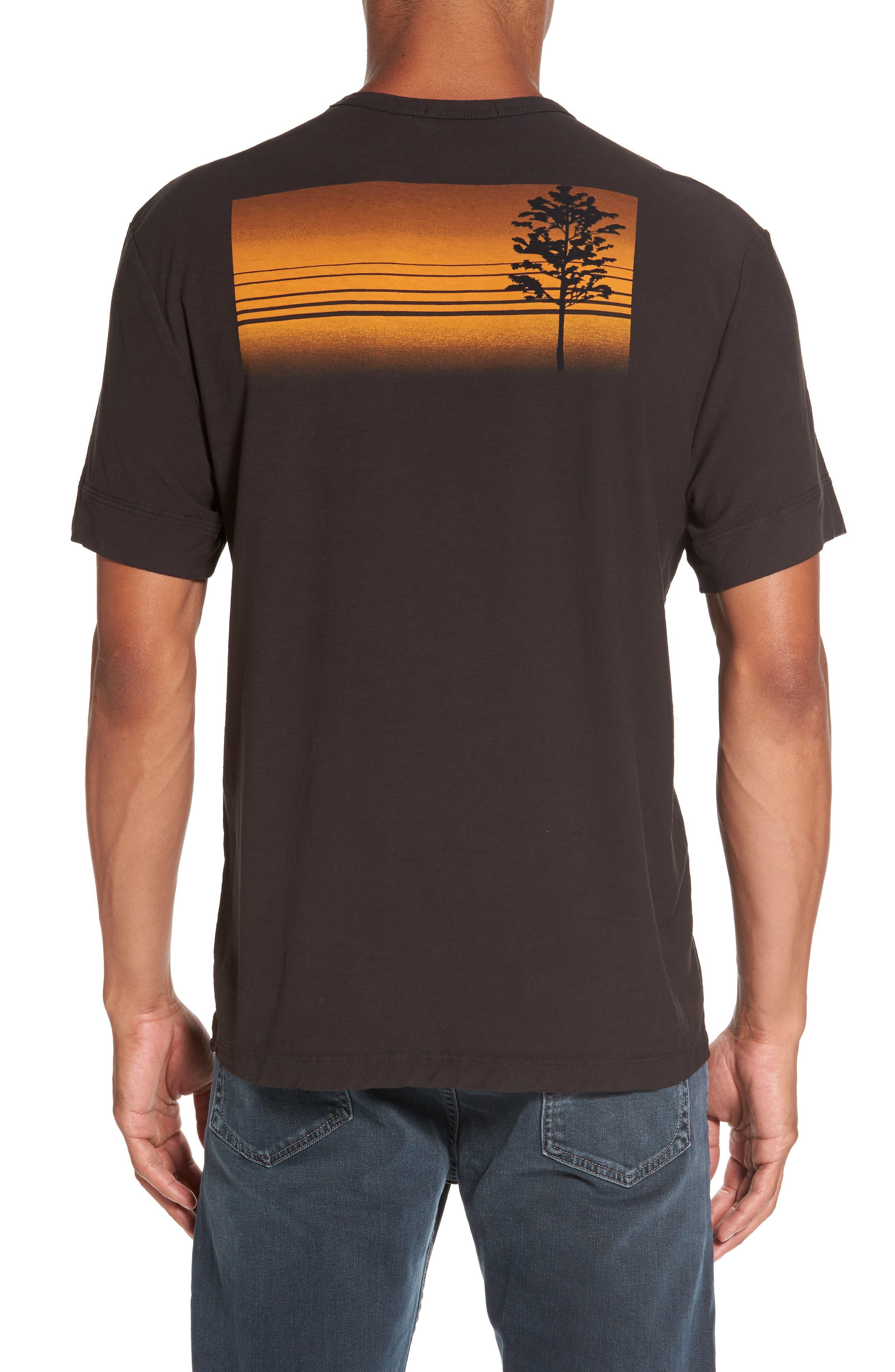 Reverse Tree Graphic T-Shirt,                             Alternate thumbnail 2, color,                             Carbon