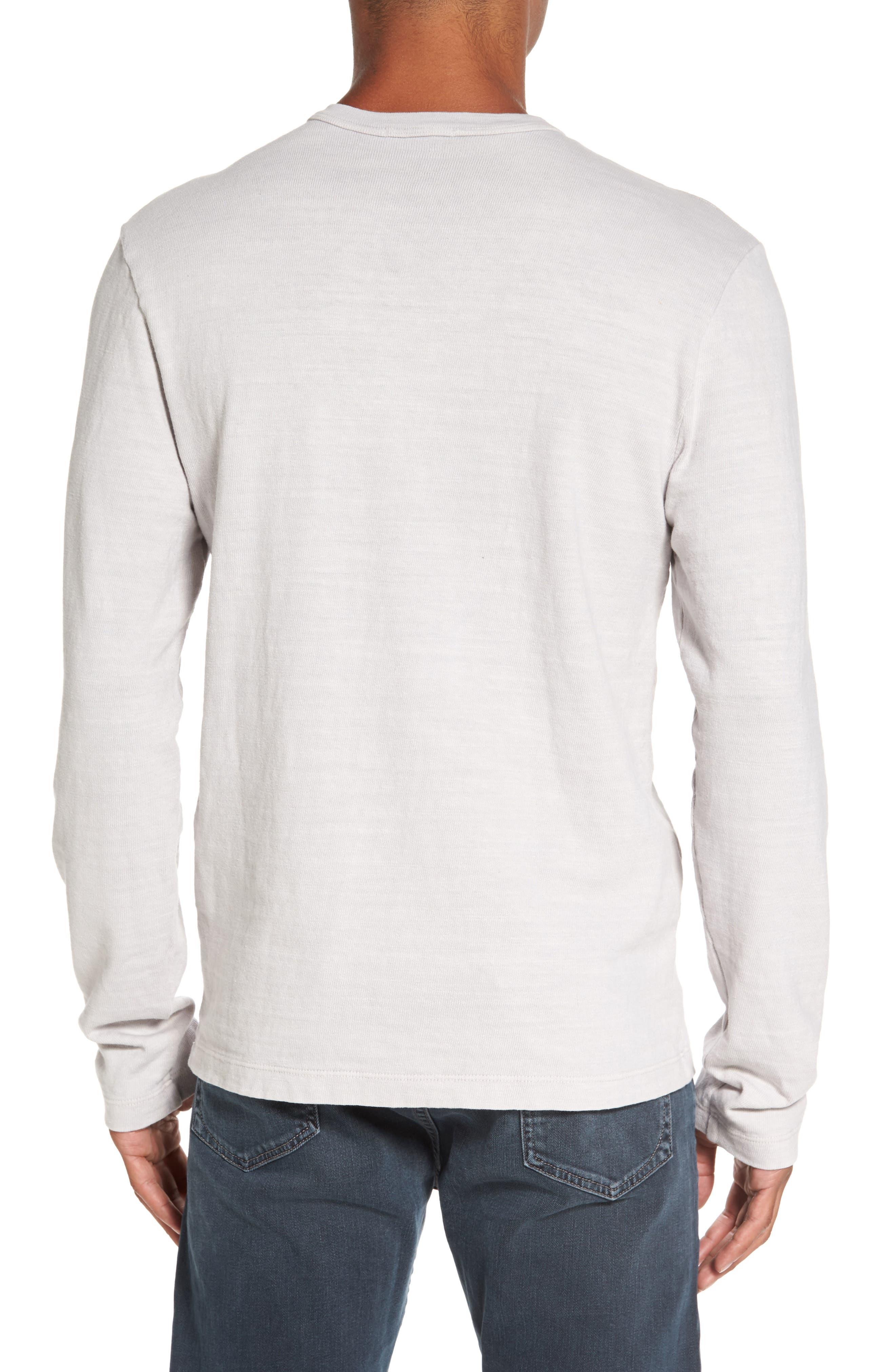 Long Sleeve Henley T-Shirt,                             Alternate thumbnail 2, color,                             Concrete Dust Pigment