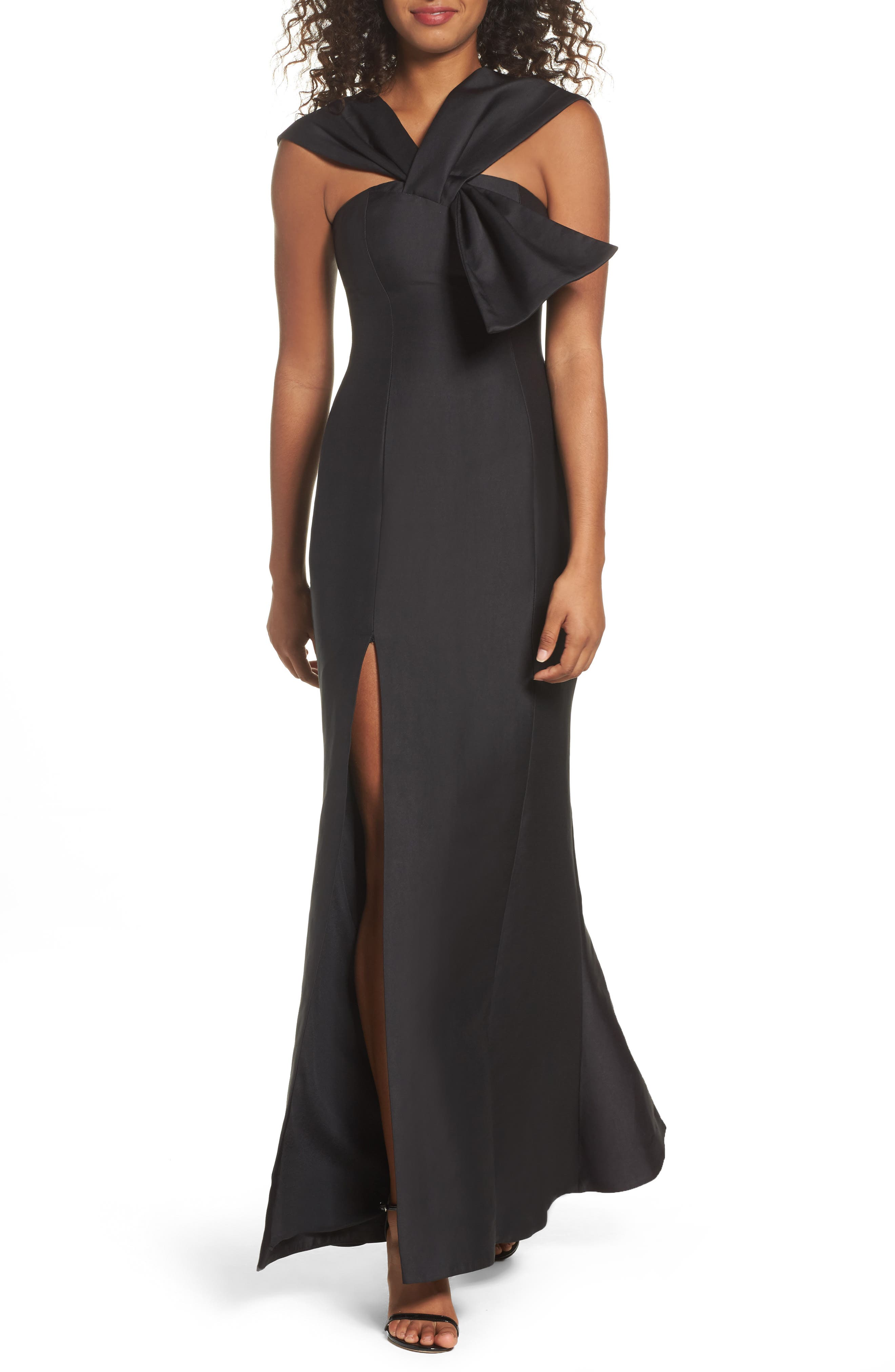 Need You Mermaid Gown,                         Main,                         color, Black