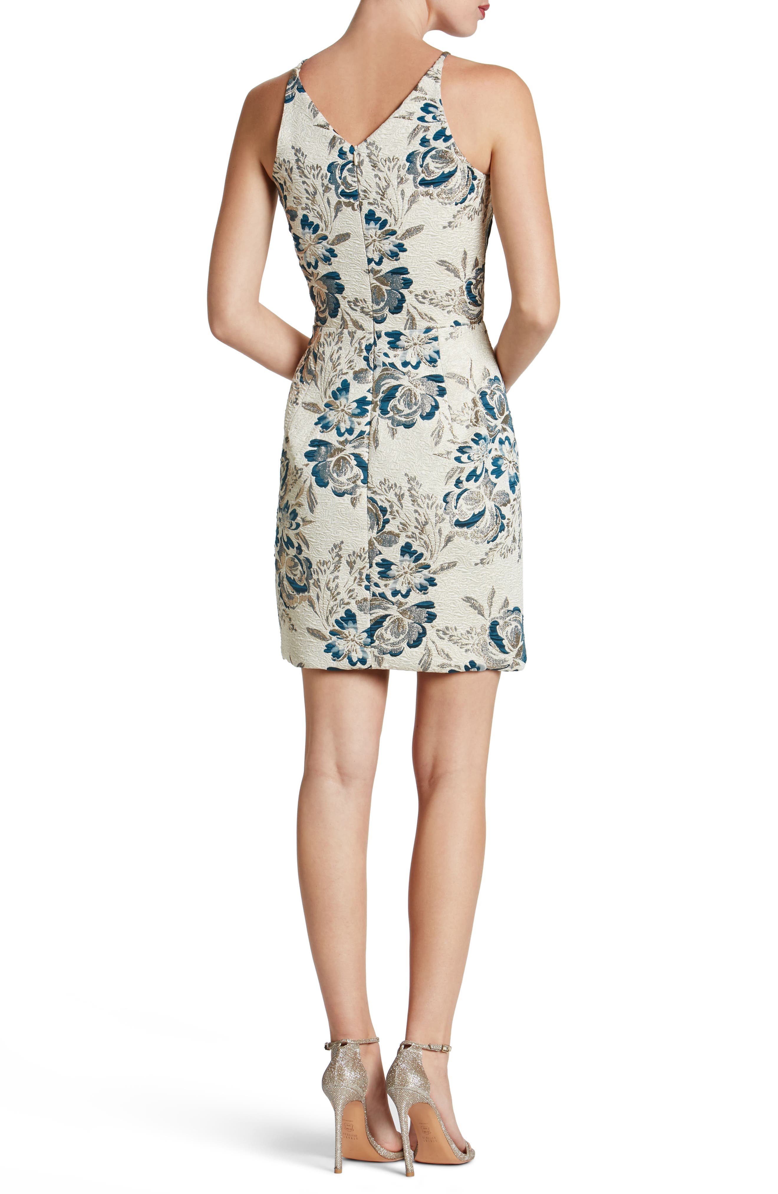 Alternate Image 2  - Dress the Population Kennedy Mesh Plunge Sheath Dress