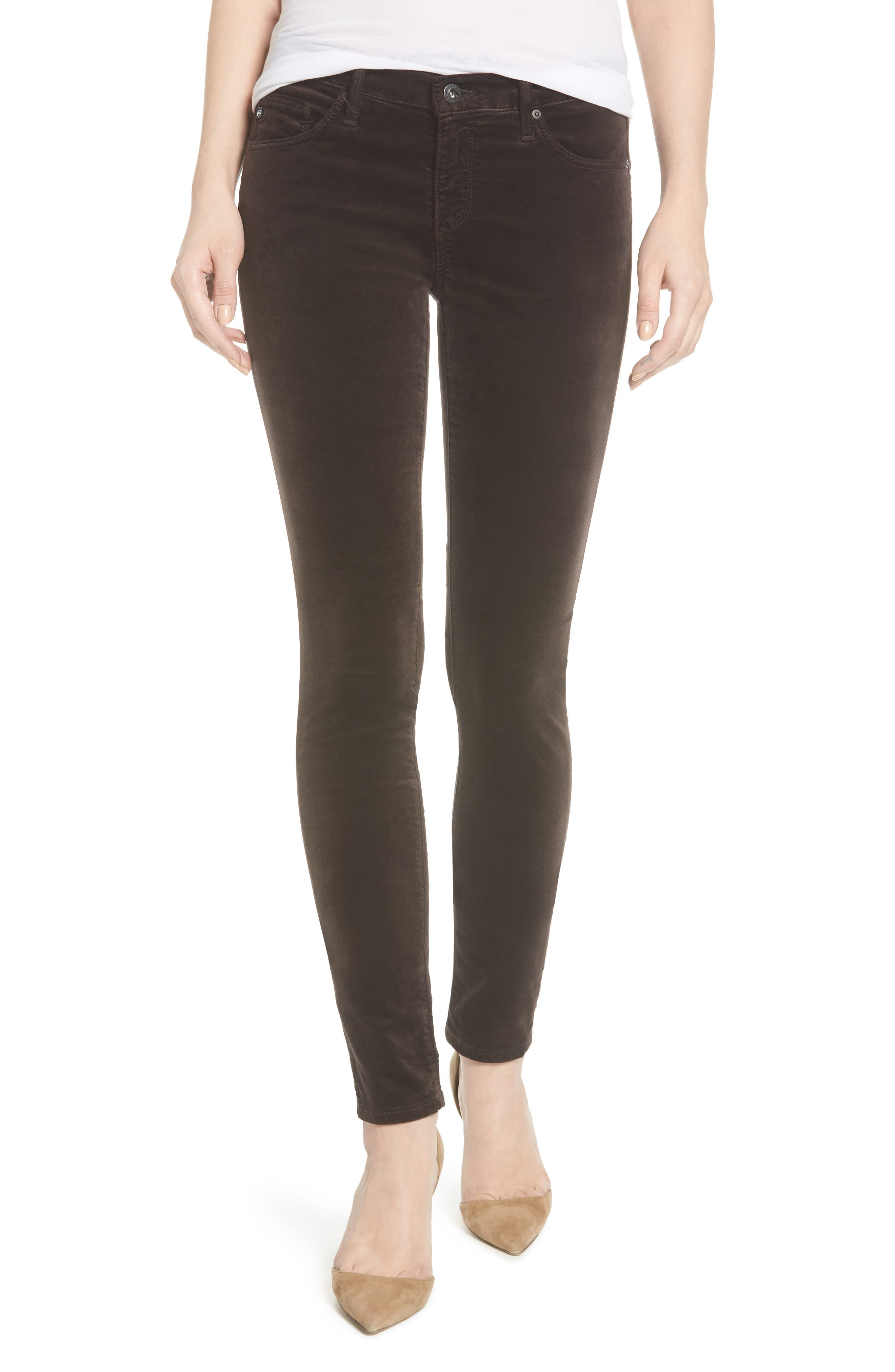 AG Super Skinny Velvet Leggings