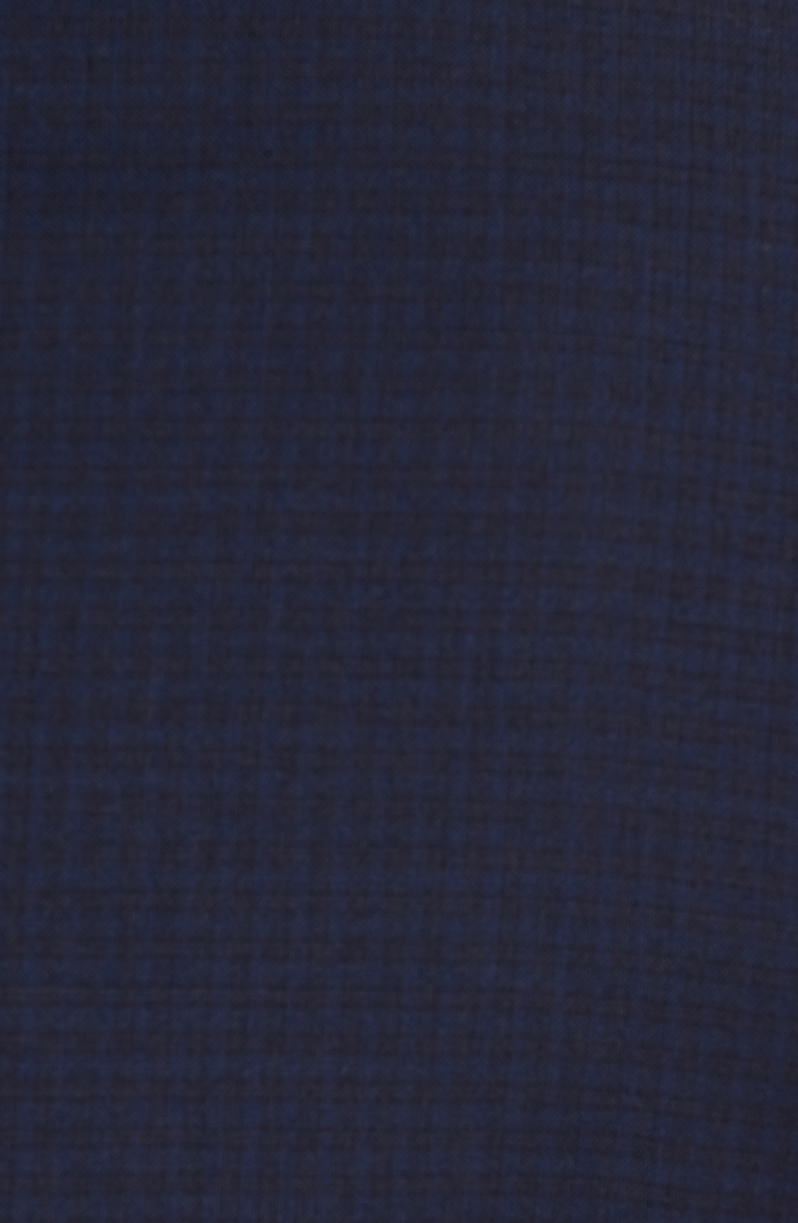 Jay Trim Fit Check Wool Suit,                             Alternate thumbnail 7, color,                             Navy