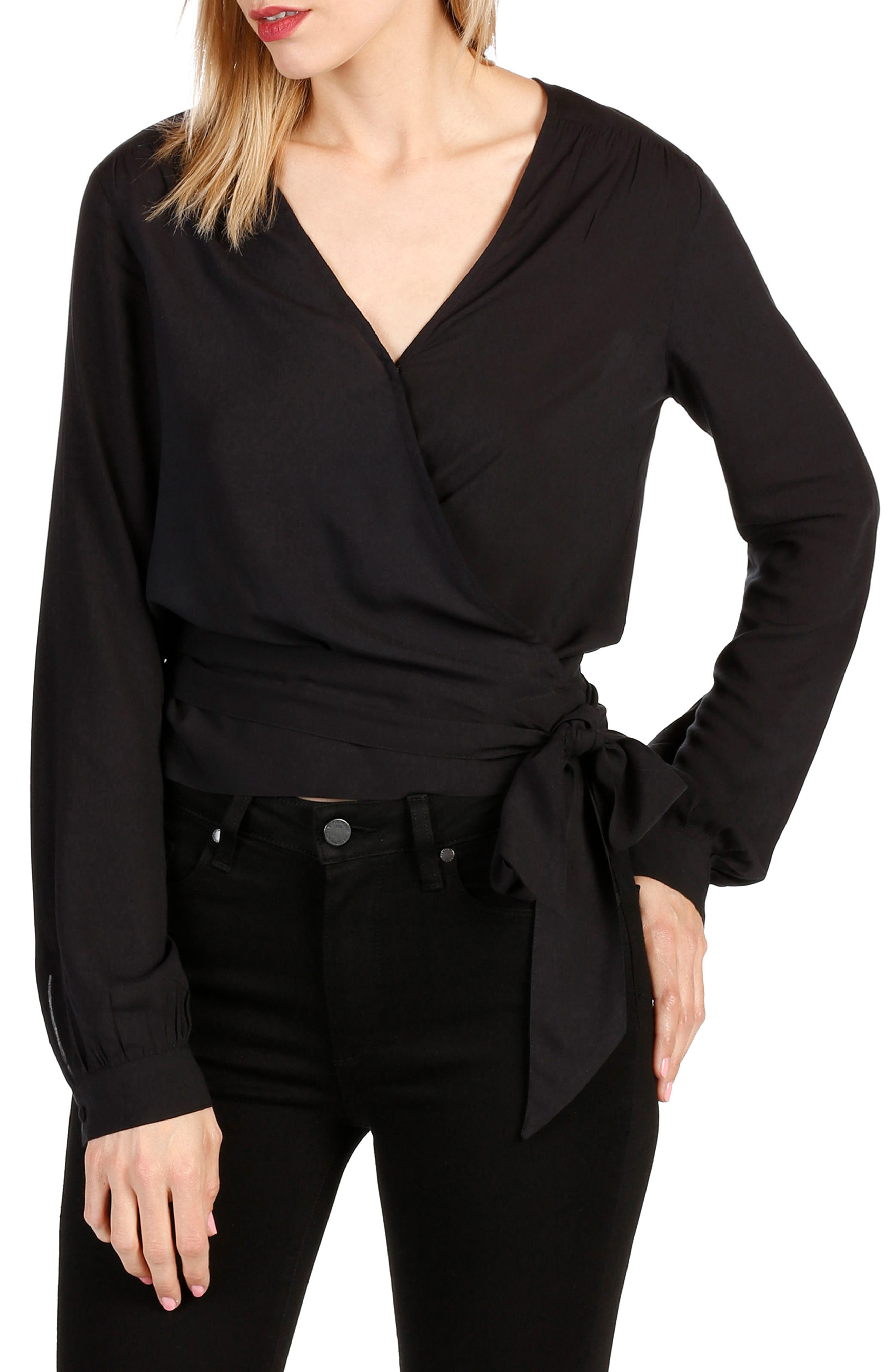 PAIGE Carlyn Wrap Blouse