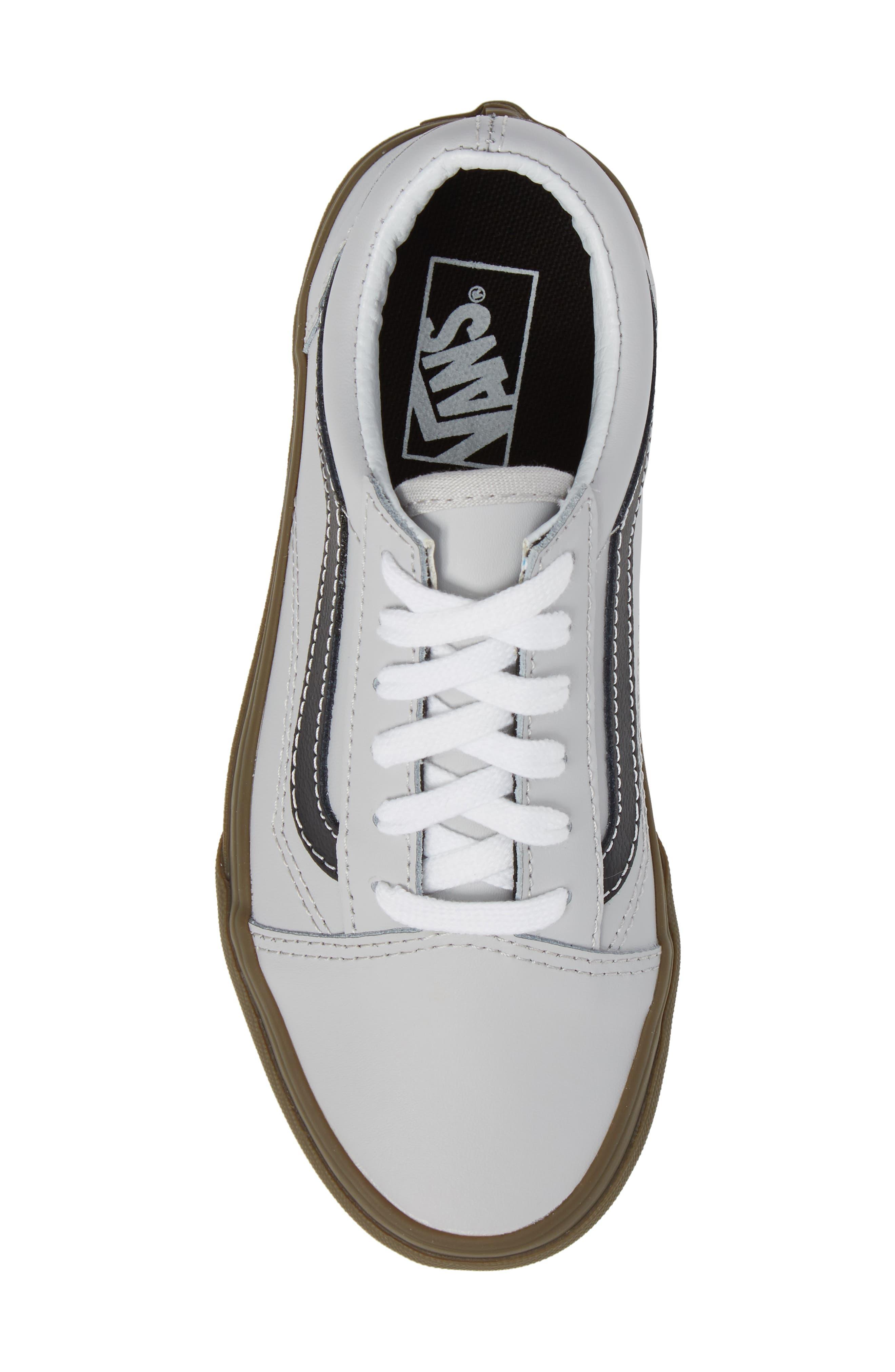 Old Skool Sneaker,                             Alternate thumbnail 5, color,                             Bleacher Gray/ Black/ Gum