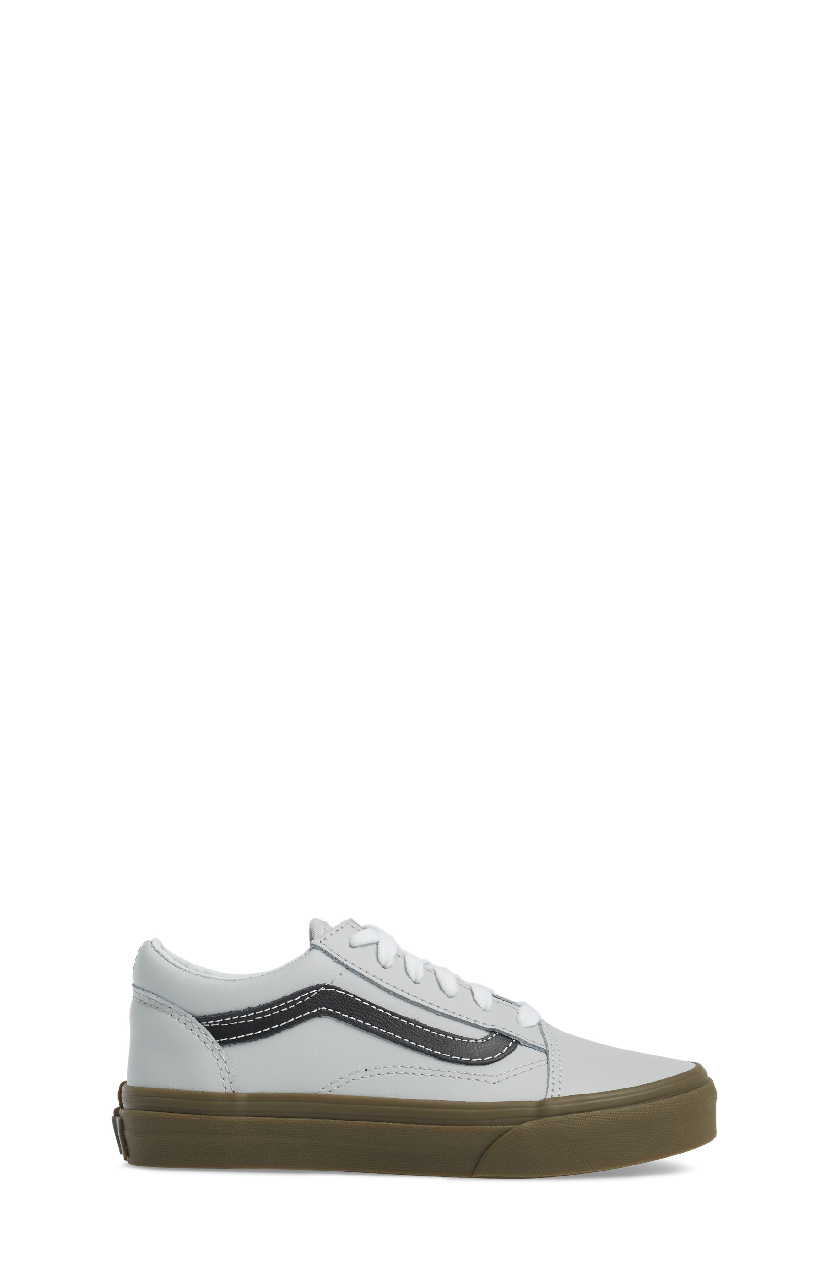 Old Skool Sneaker,                             Alternate thumbnail 3, color,                             Bleacher Gray/ Black/ Gum