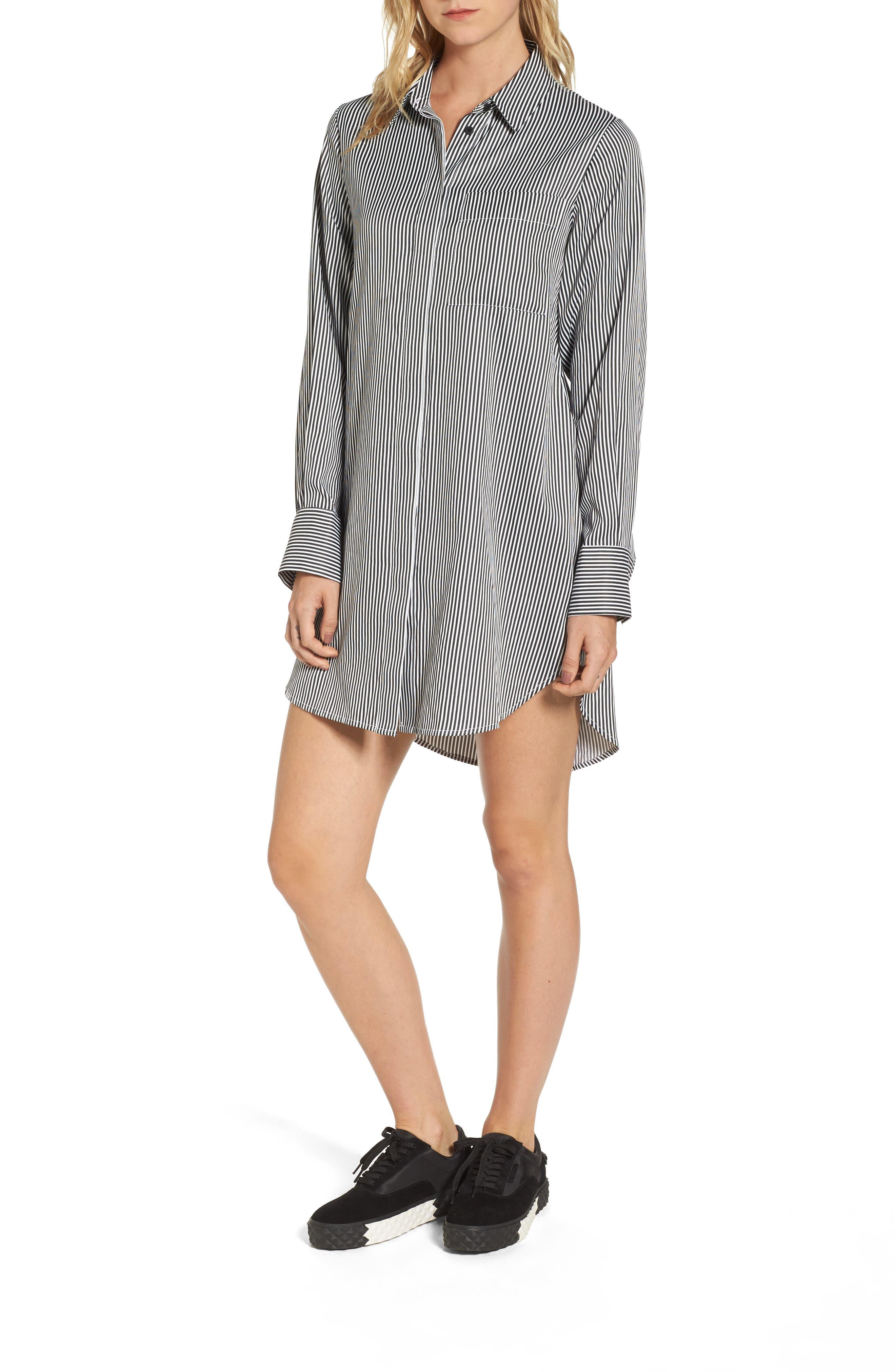 KENDALL + KYLIE Lace-Up Back Shirtdress