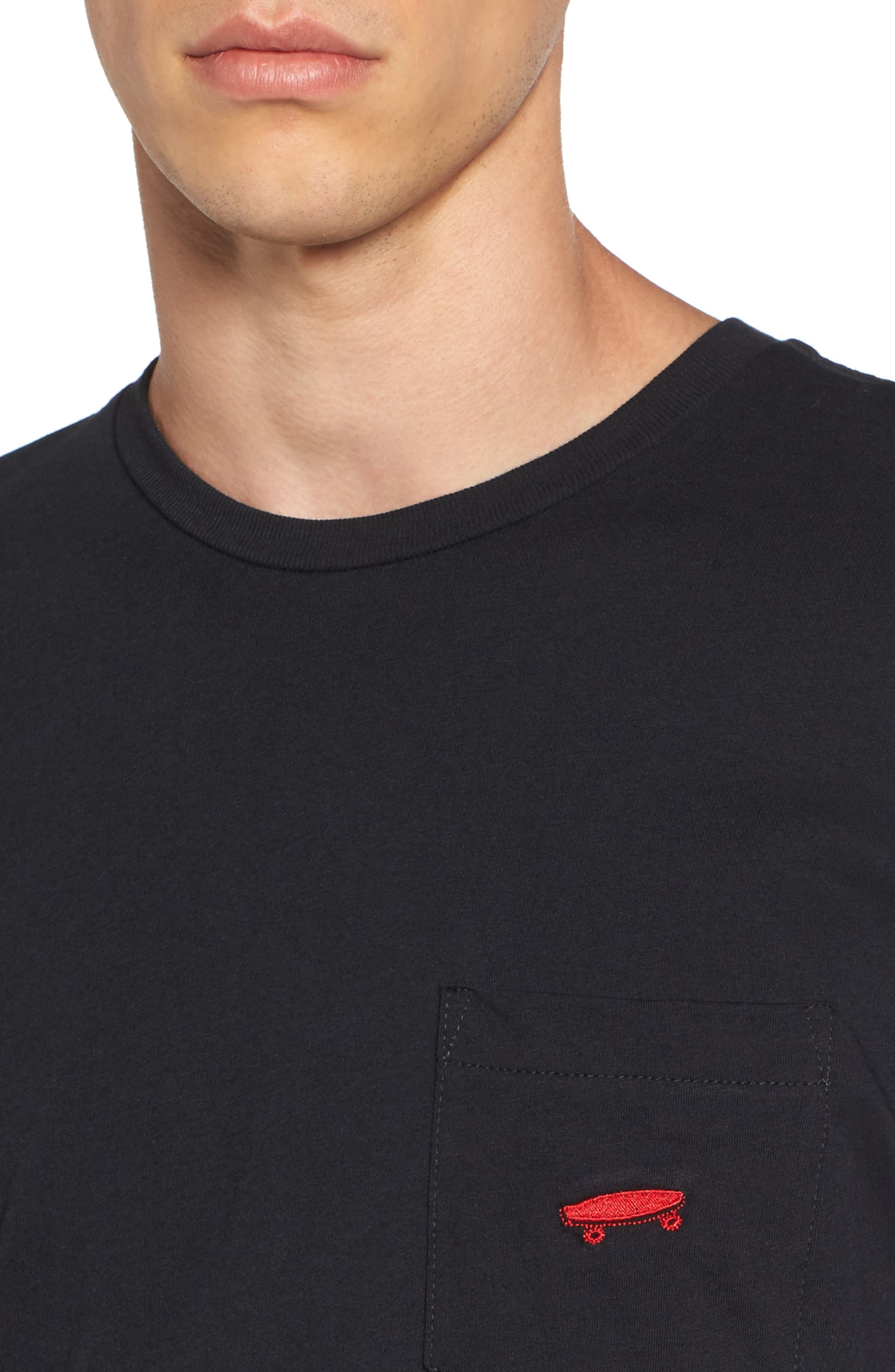 Alternate Image 4  - Vans Everyday Embroidered Pocket T-Shirt