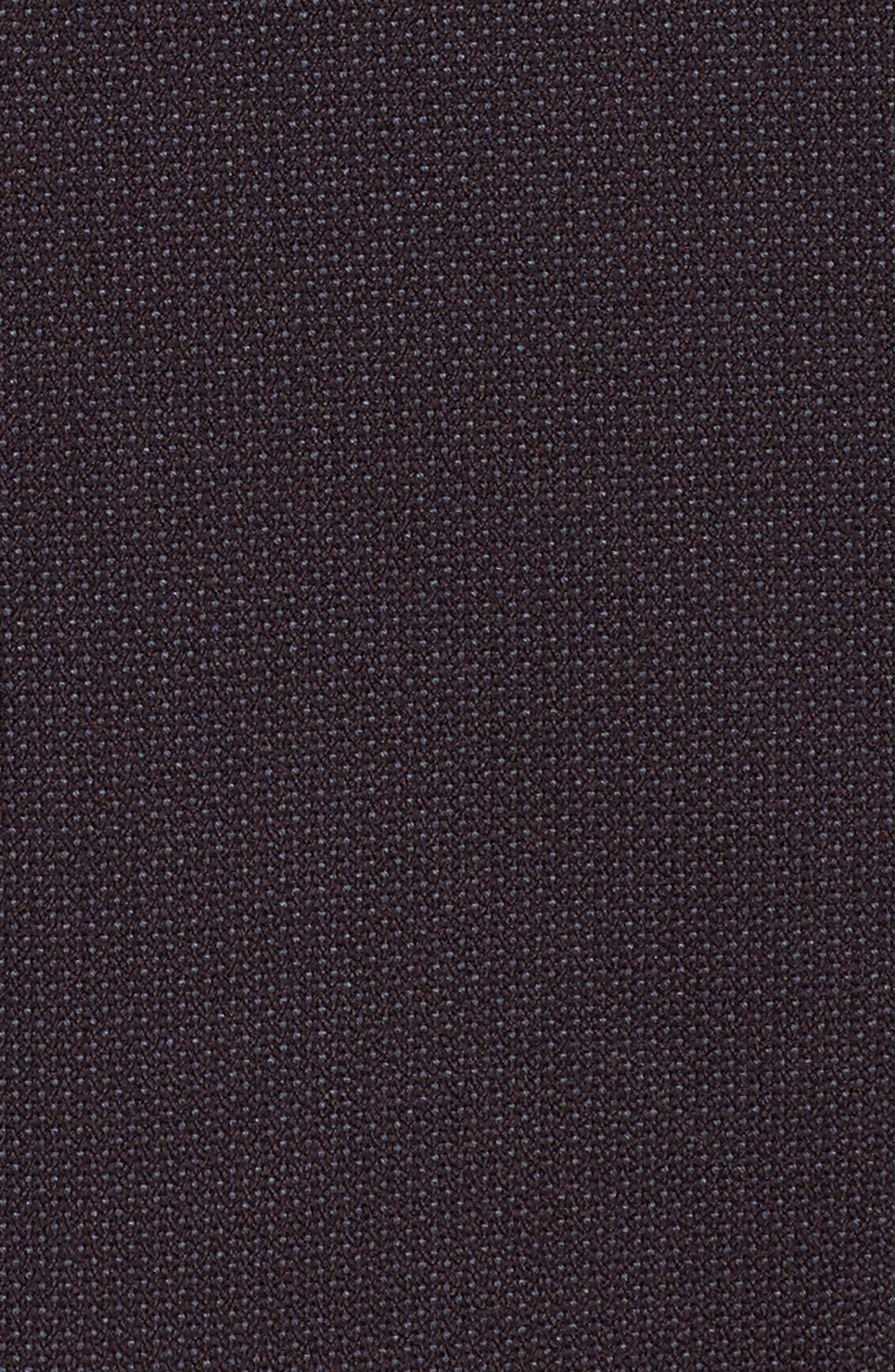 One-Button Suit Jacket,                             Alternate thumbnail 6, color,                             Burgundy