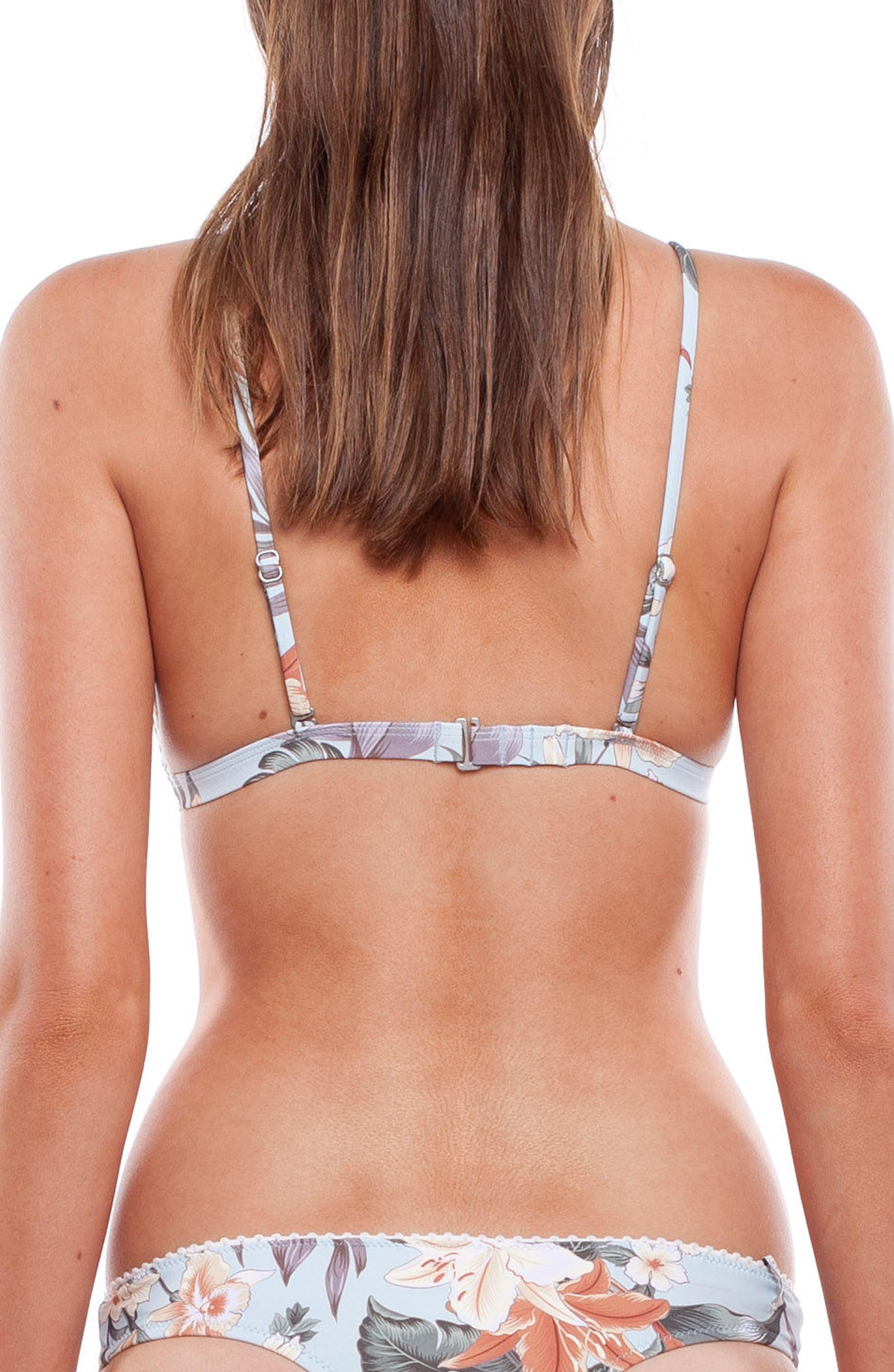 Leilani Triangle Bikini Top,                             Alternate thumbnail 2, color,                             Clearwater