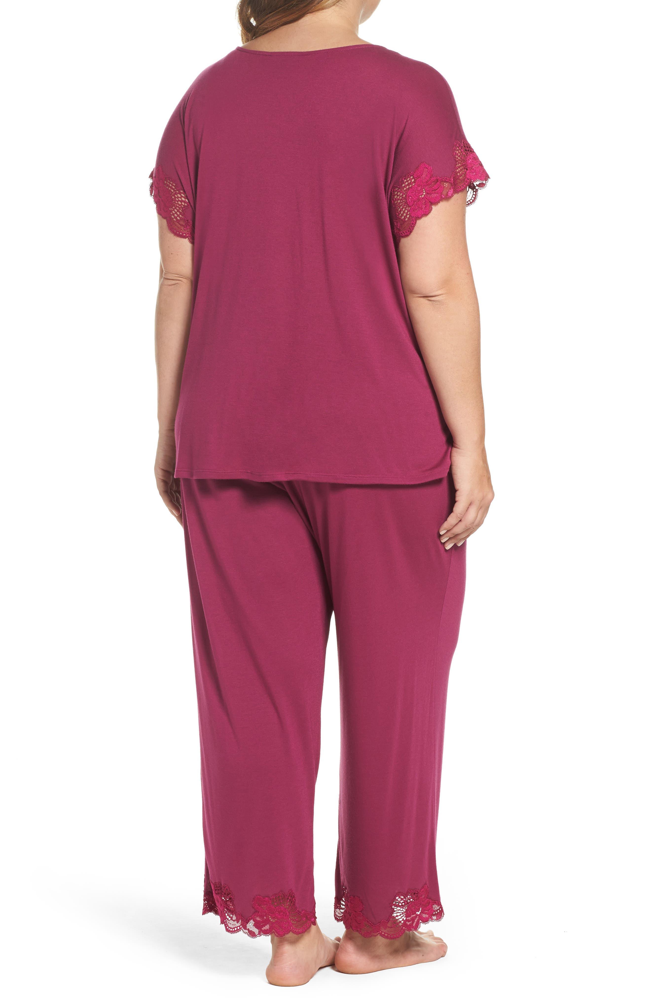 Alternate Image 2  - Natori 'Zen Floral' Pajamas (Plus Size)