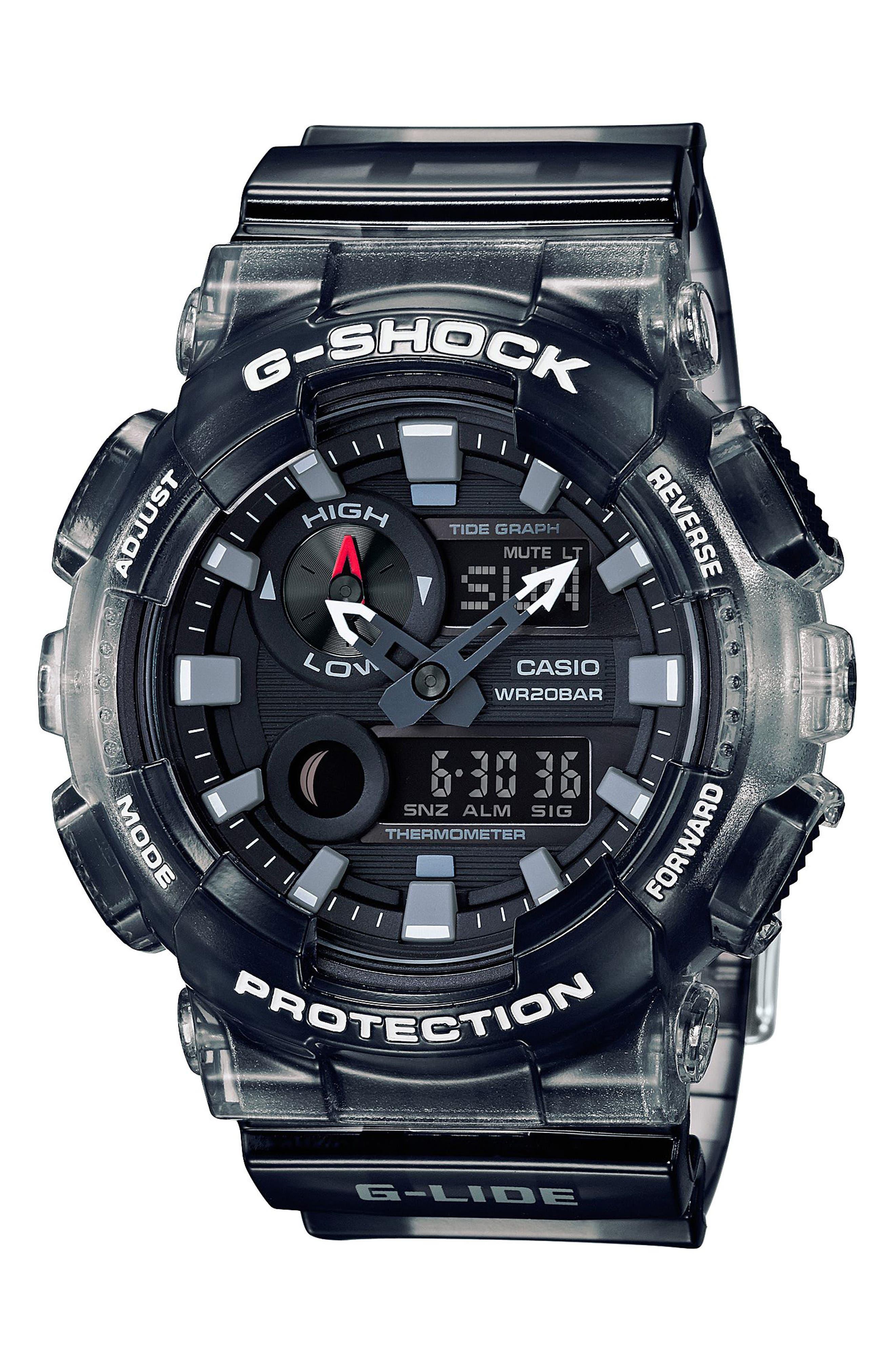 Ana-Digi Watch, 51mm,                         Main,                         color, Grey/ Black
