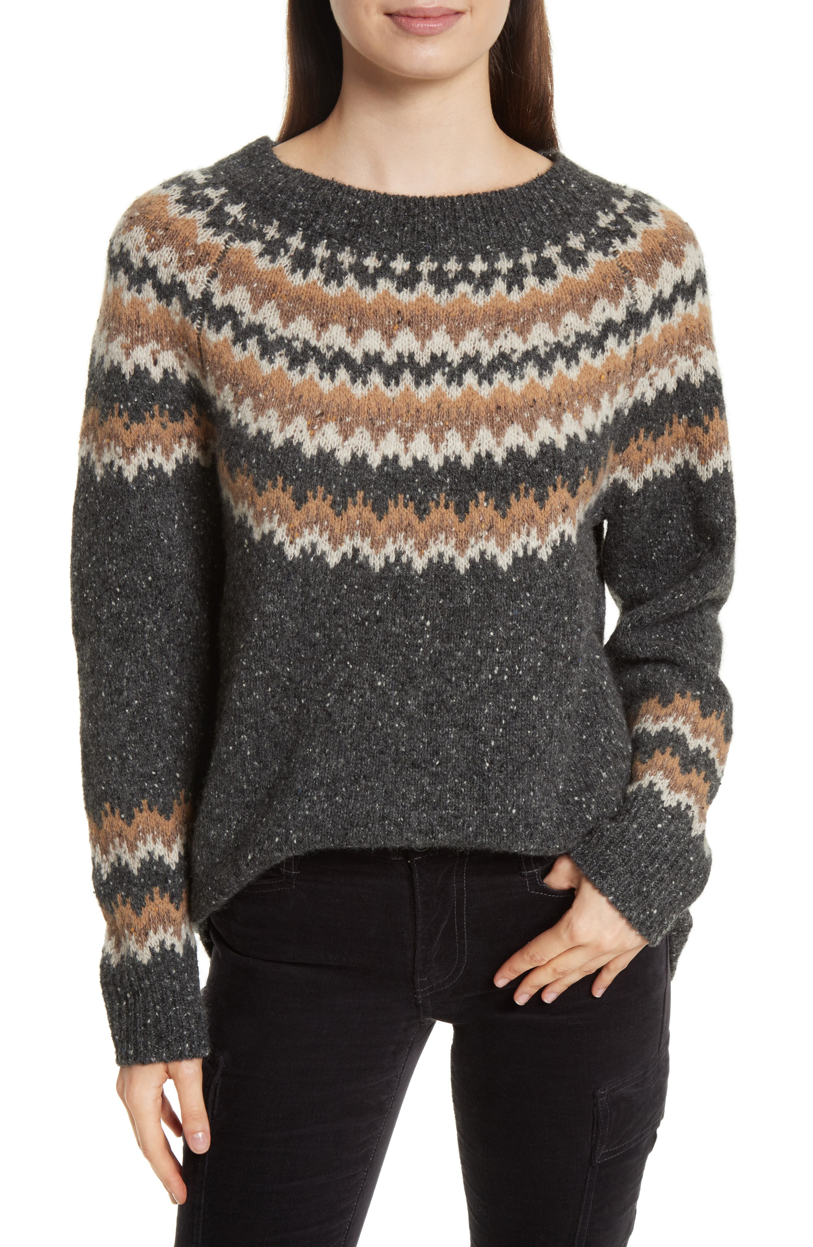 Vince Fair Isle Cashmere Sweater