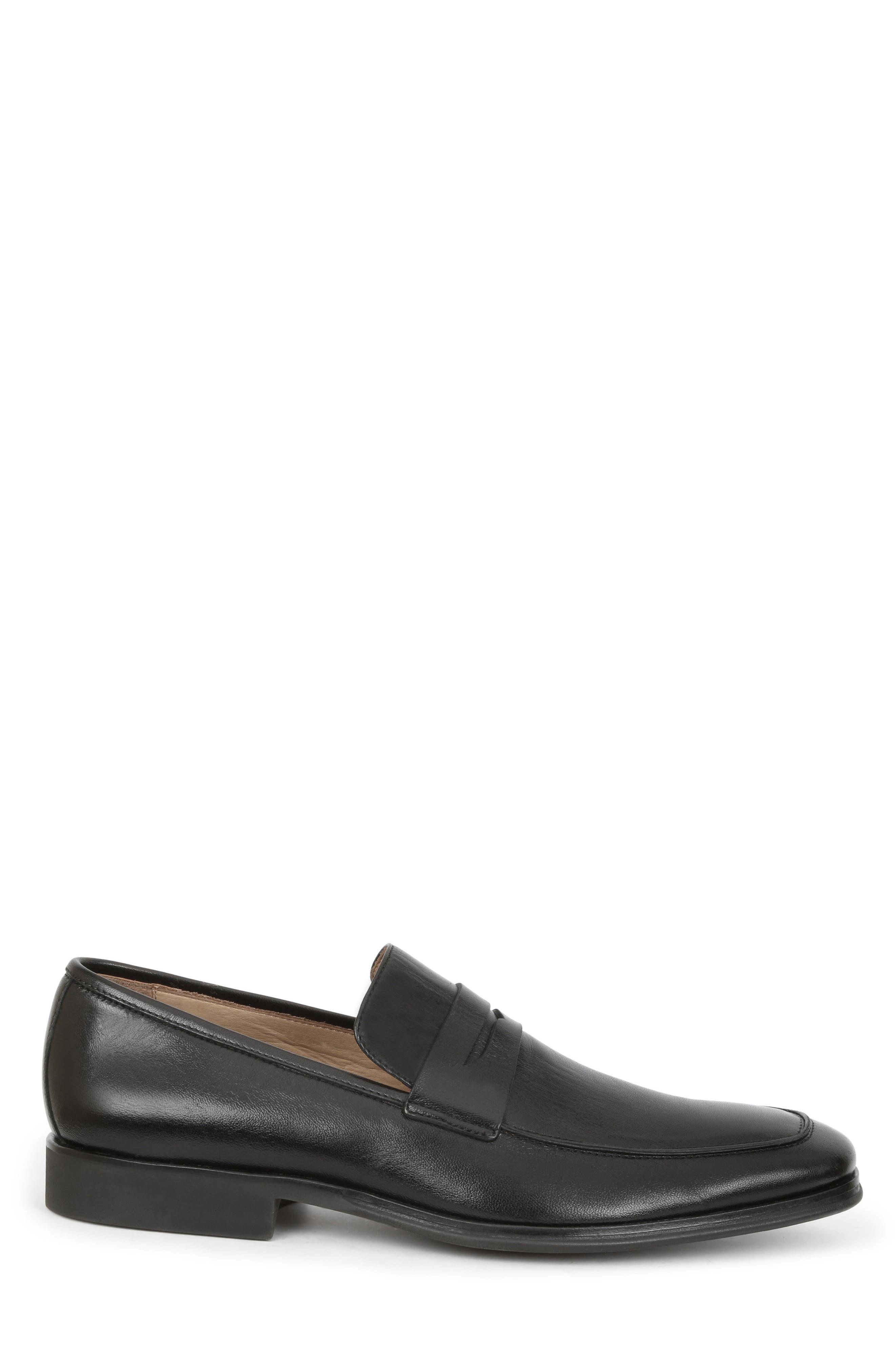 Ragusa Penny Loafer,                             Alternate thumbnail 3, color,                             Black Leather