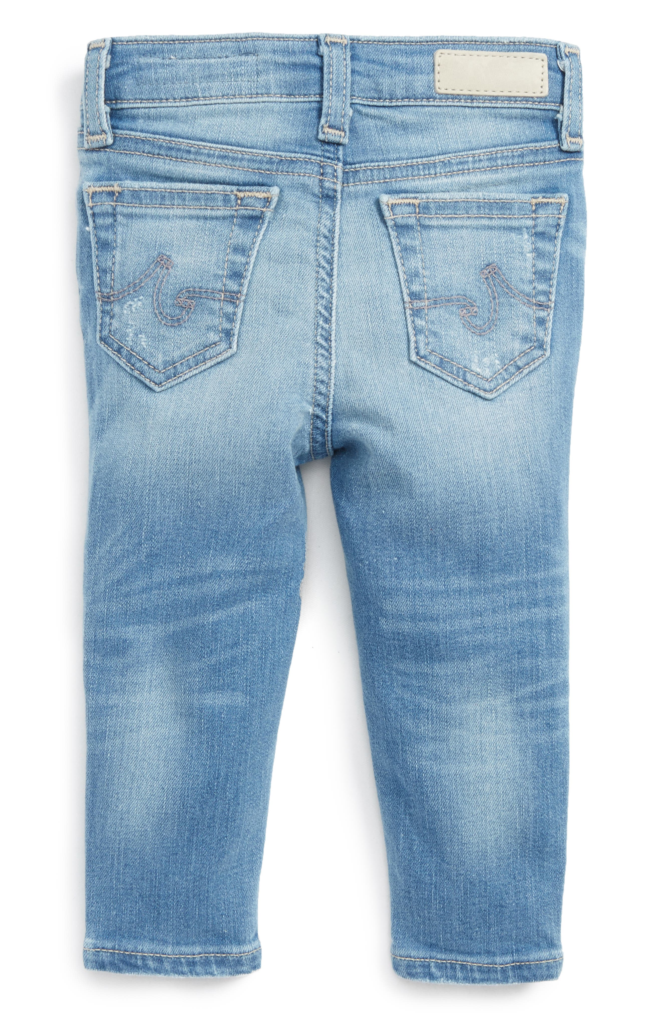 Alternate Image 2  - ag adriano goldschmied kids Ankle Skinny Jeans (Baby Girls)