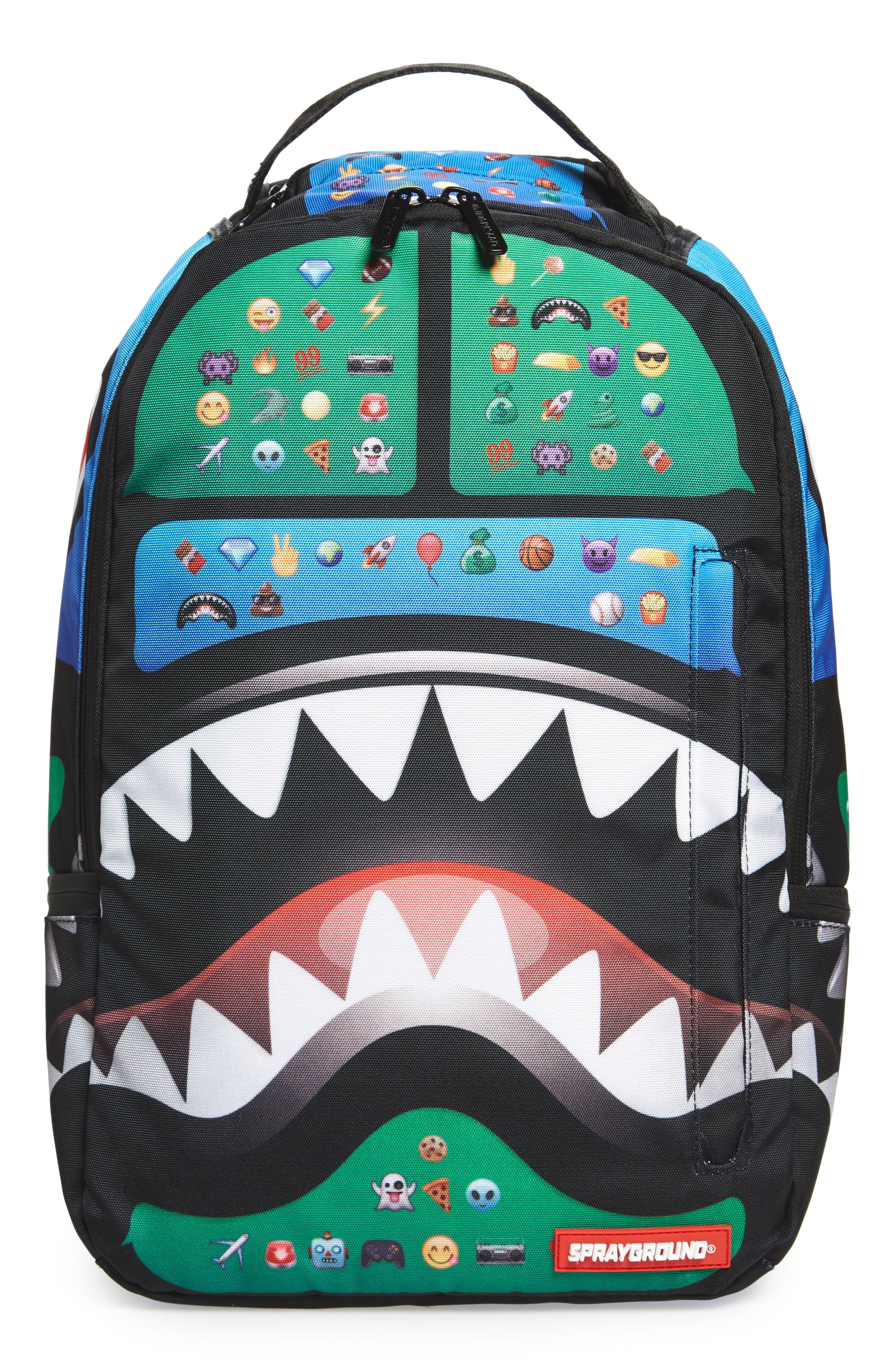 Main Image - Sprayground Emoji Shark Backpack (Kids)