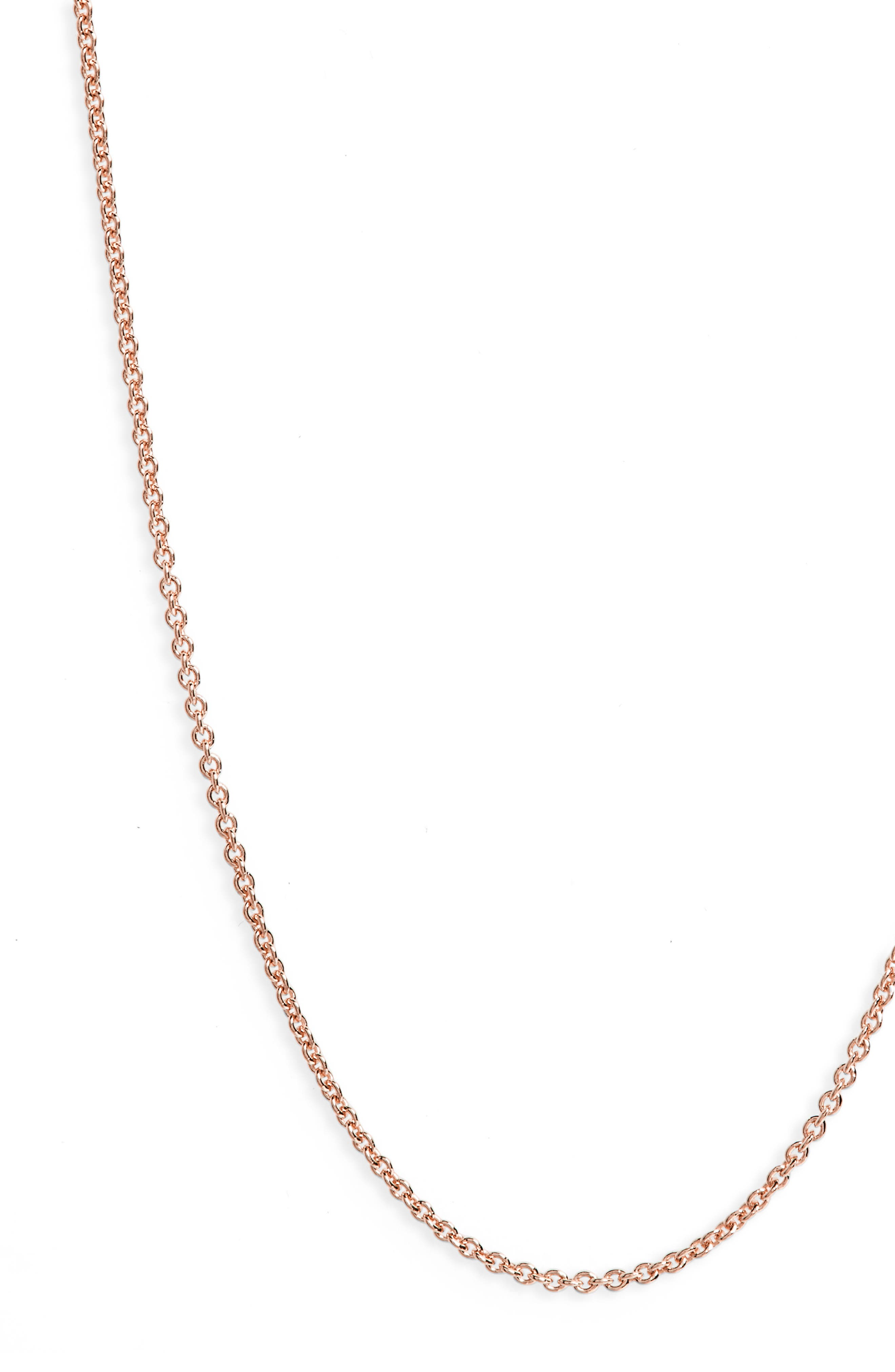 24 Inch Chain,                         Main,                         color, Rose Gold