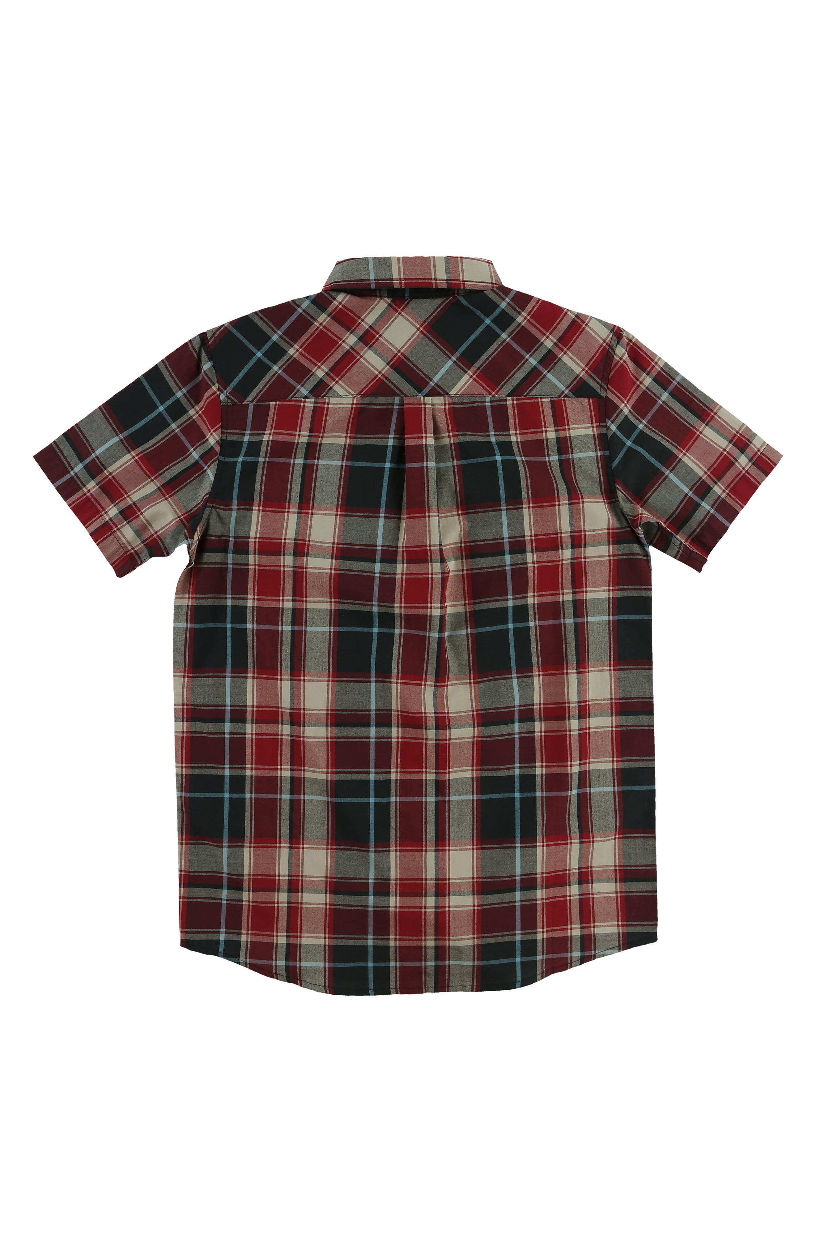 Alternate Image 2  - O'Neill Plaid Short Sleeve Shirt (Big Boys)