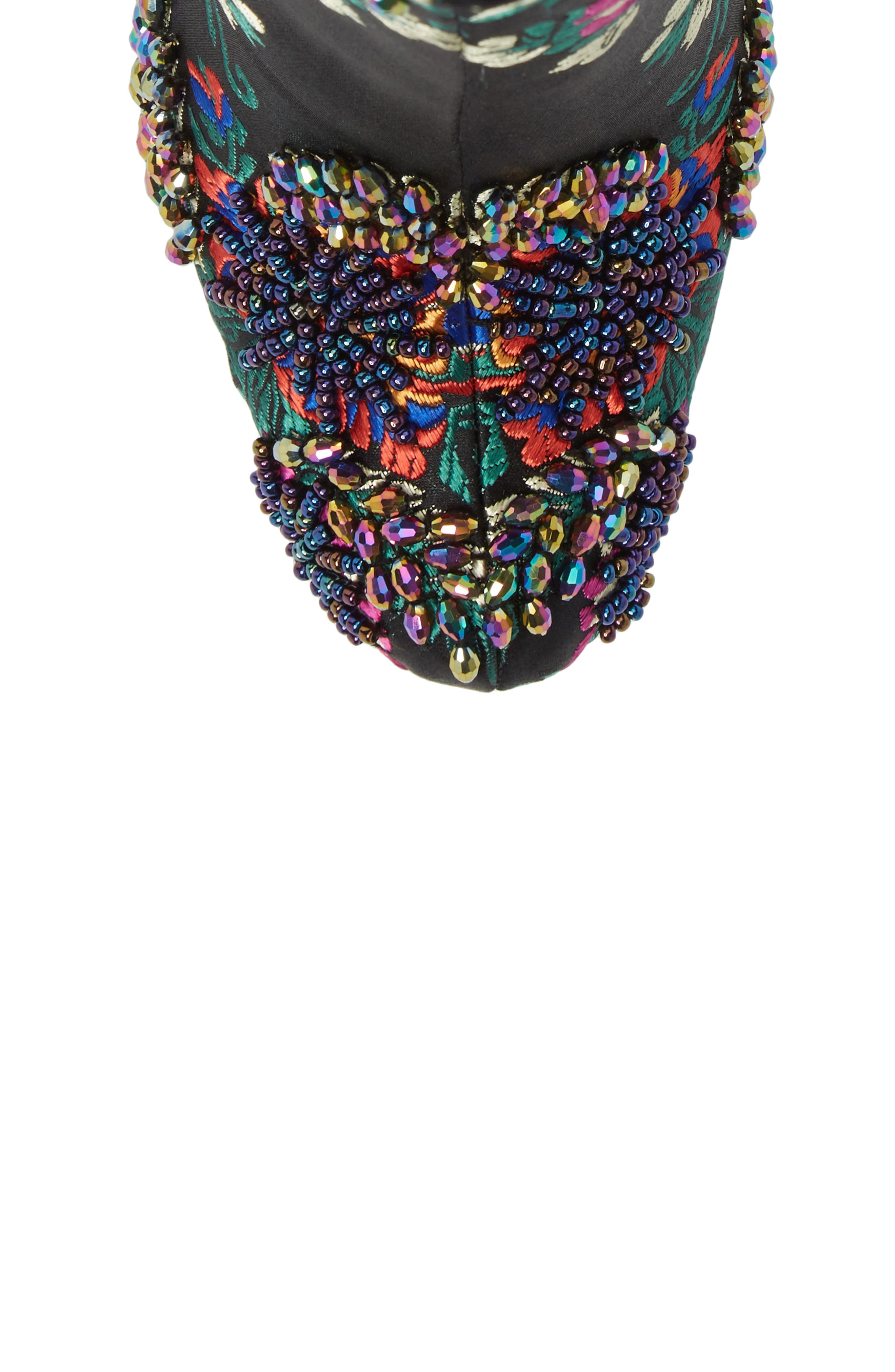 Alternate Image 5  - Jeffrey Campbell Stratford Embellished Brocade Bootie (Women)