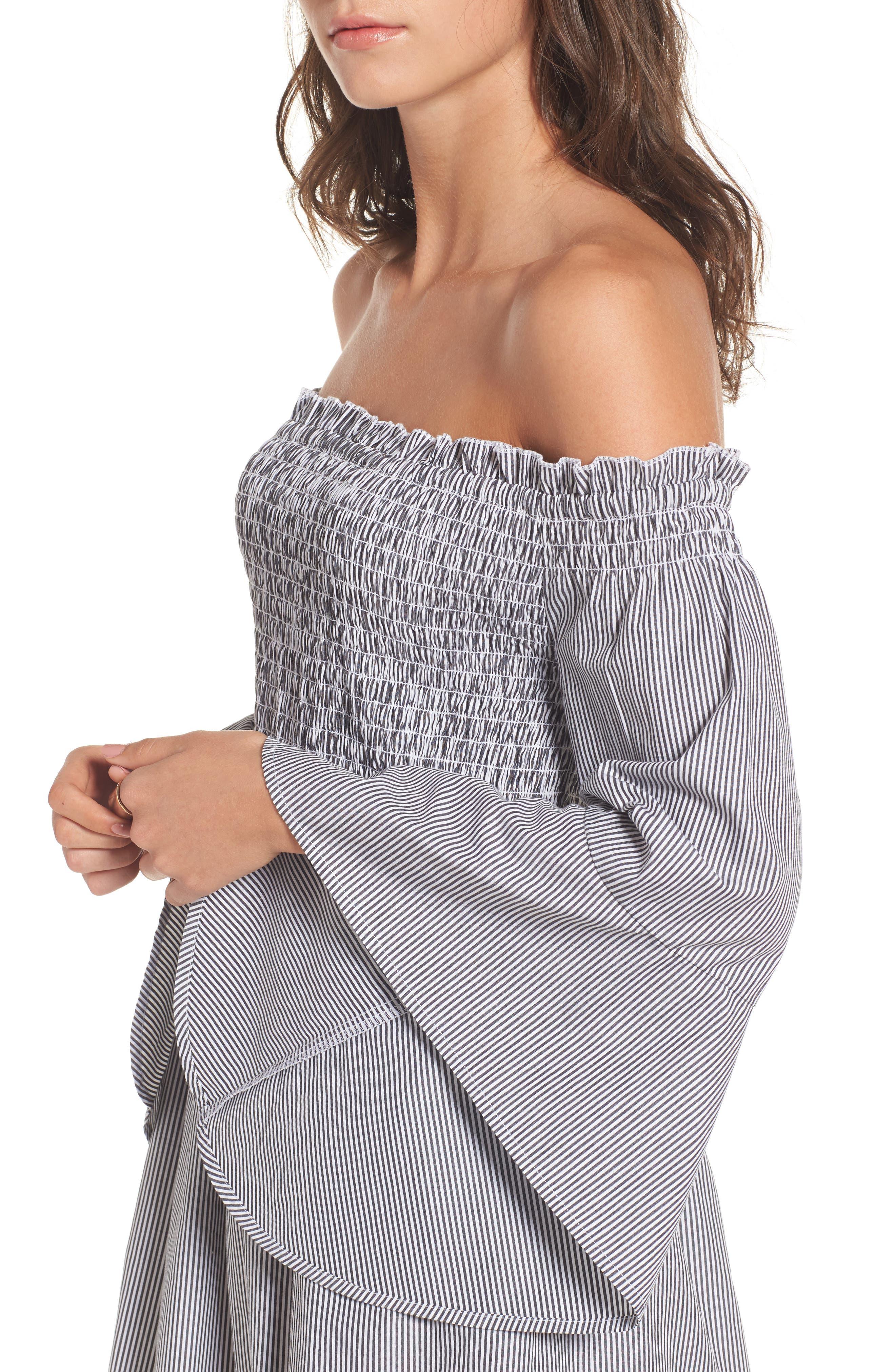 Alternate Image 4  - BP. Smocked Off the Shoulder Dress