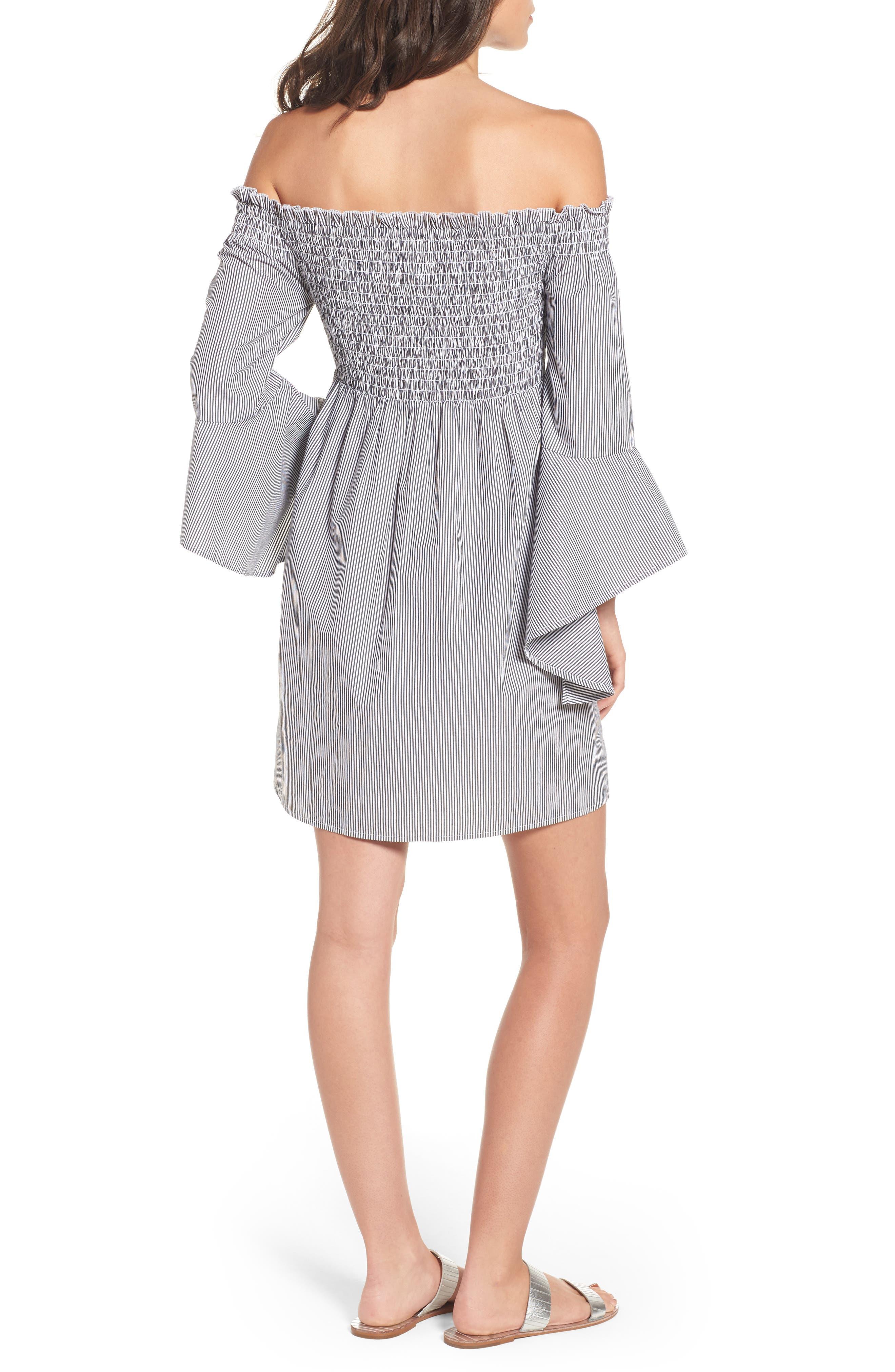 Alternate Image 2  - BP. Smocked Off the Shoulder Dress