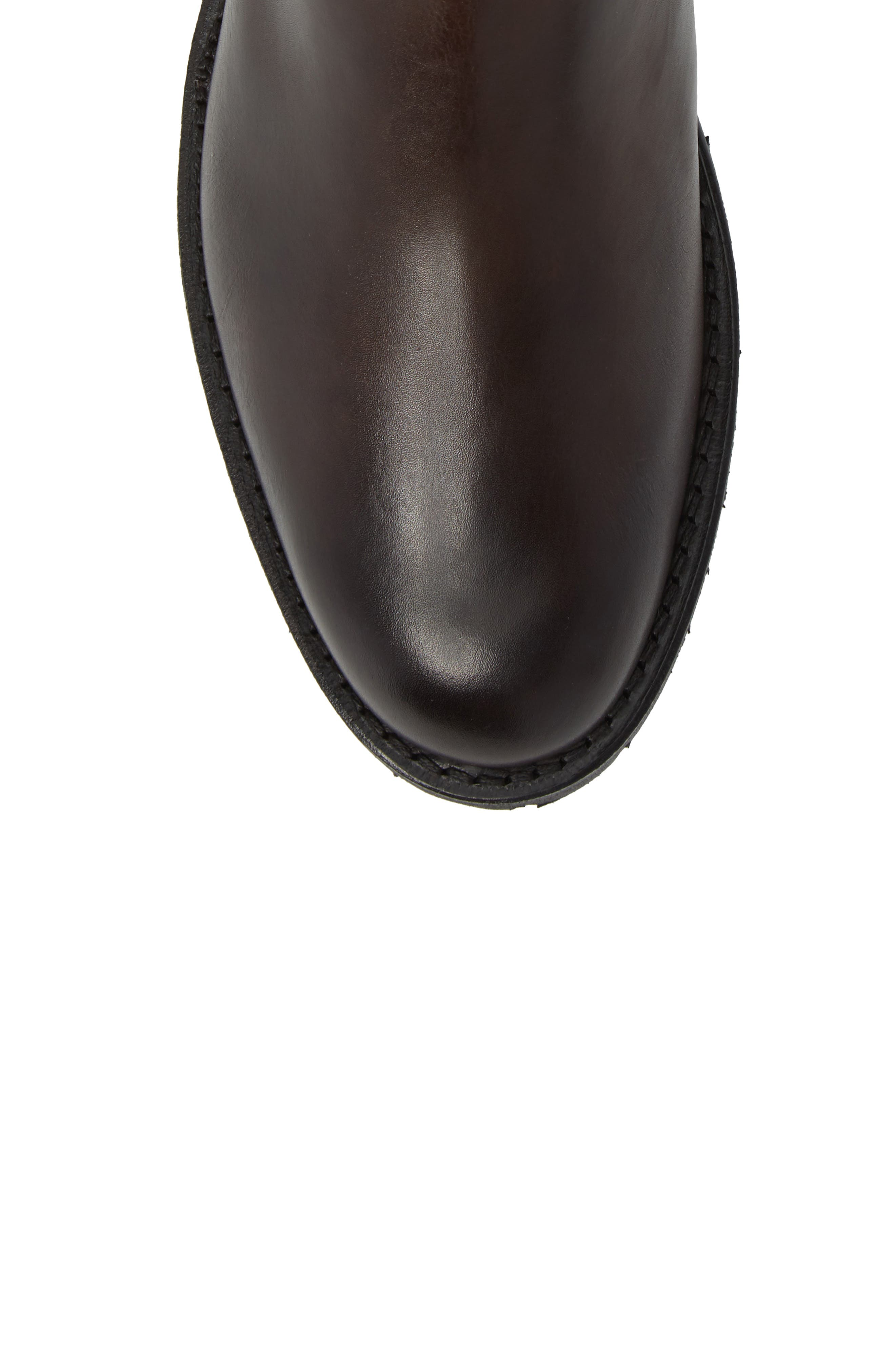 Tate Chelsea Boot,                             Alternate thumbnail 4, color,                             Brown Leather