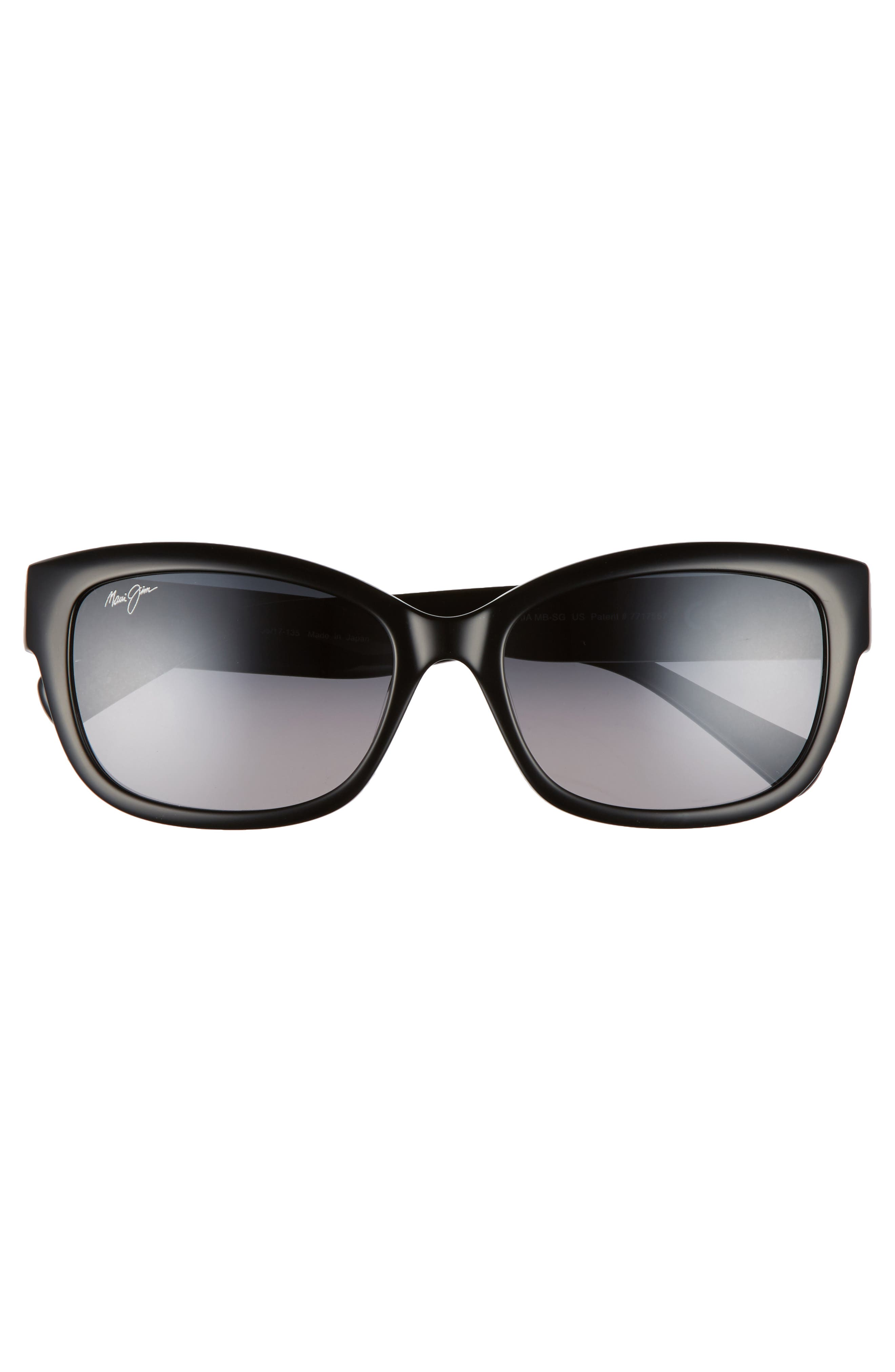 Plumeria 55mm Polarized Cat Eye Sunglasses,                             Alternate thumbnail 3, color,                             Gloss Black/ Neutral Grey
