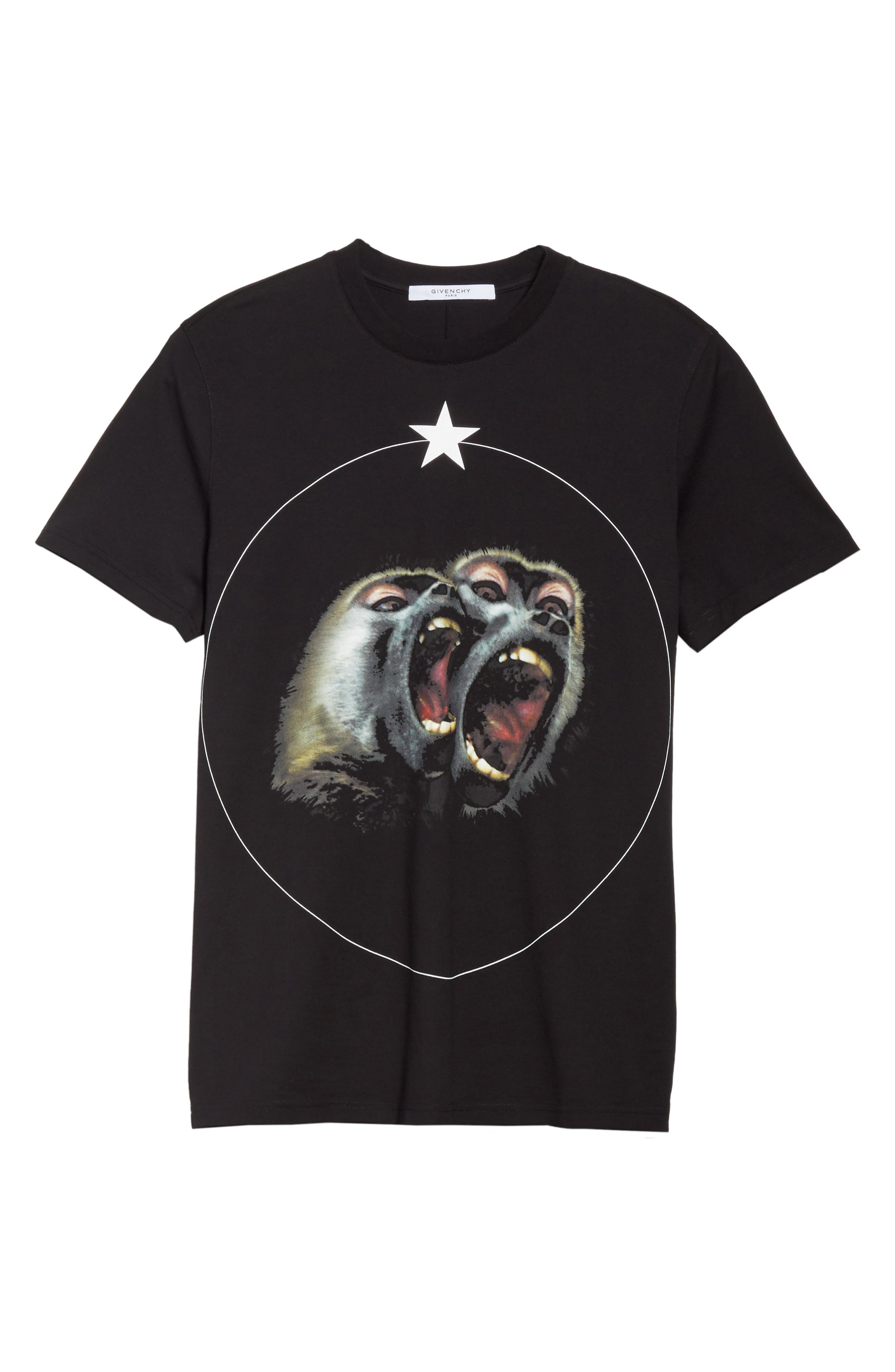 Cuban Fit Monkey Brothers Graphic T-Shirt,                         Main,                         color, Black