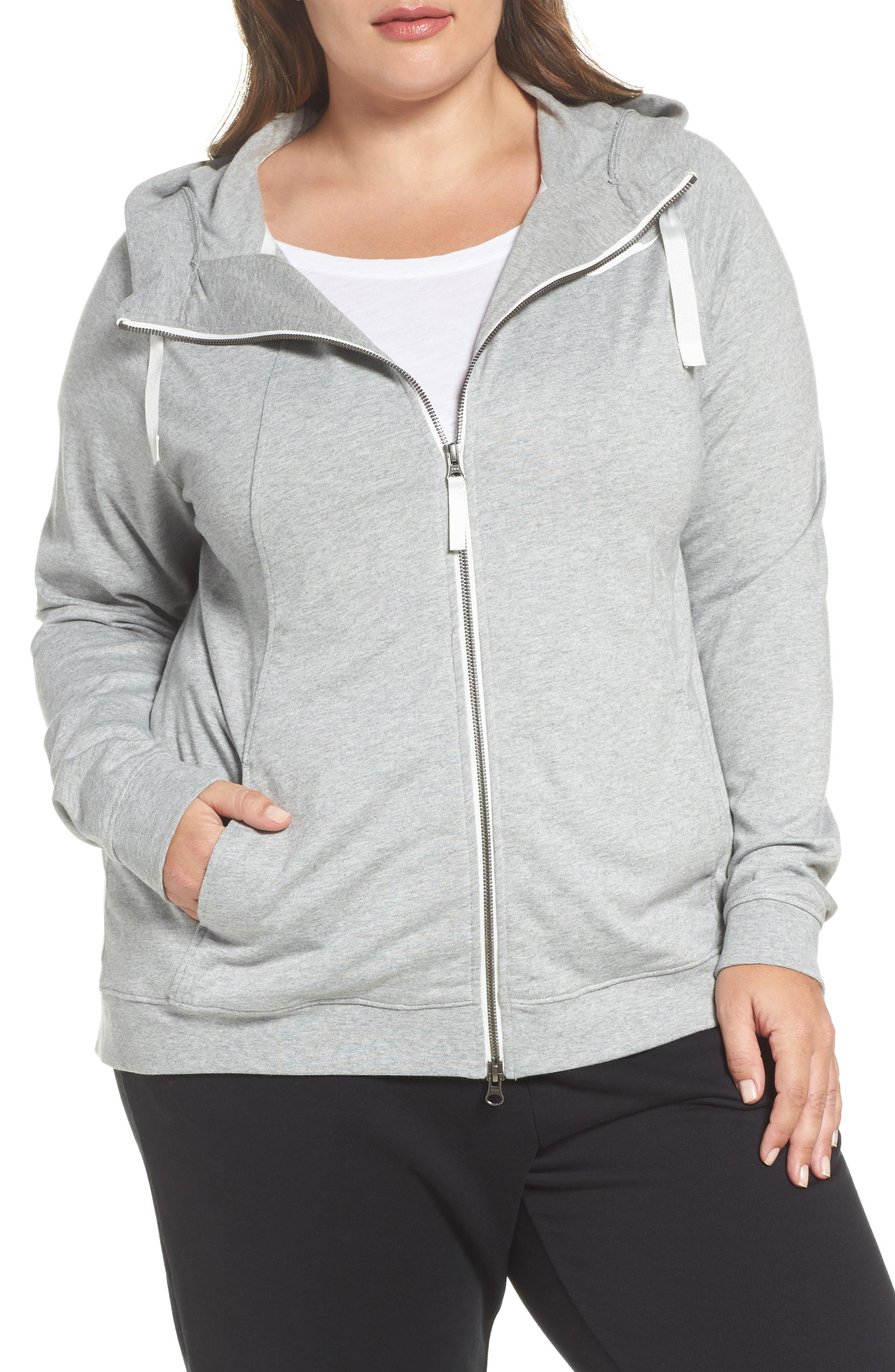 Sportswear Gym Classic Hoodie,                         Main,                         color, Dark Grey Heather/ Sail