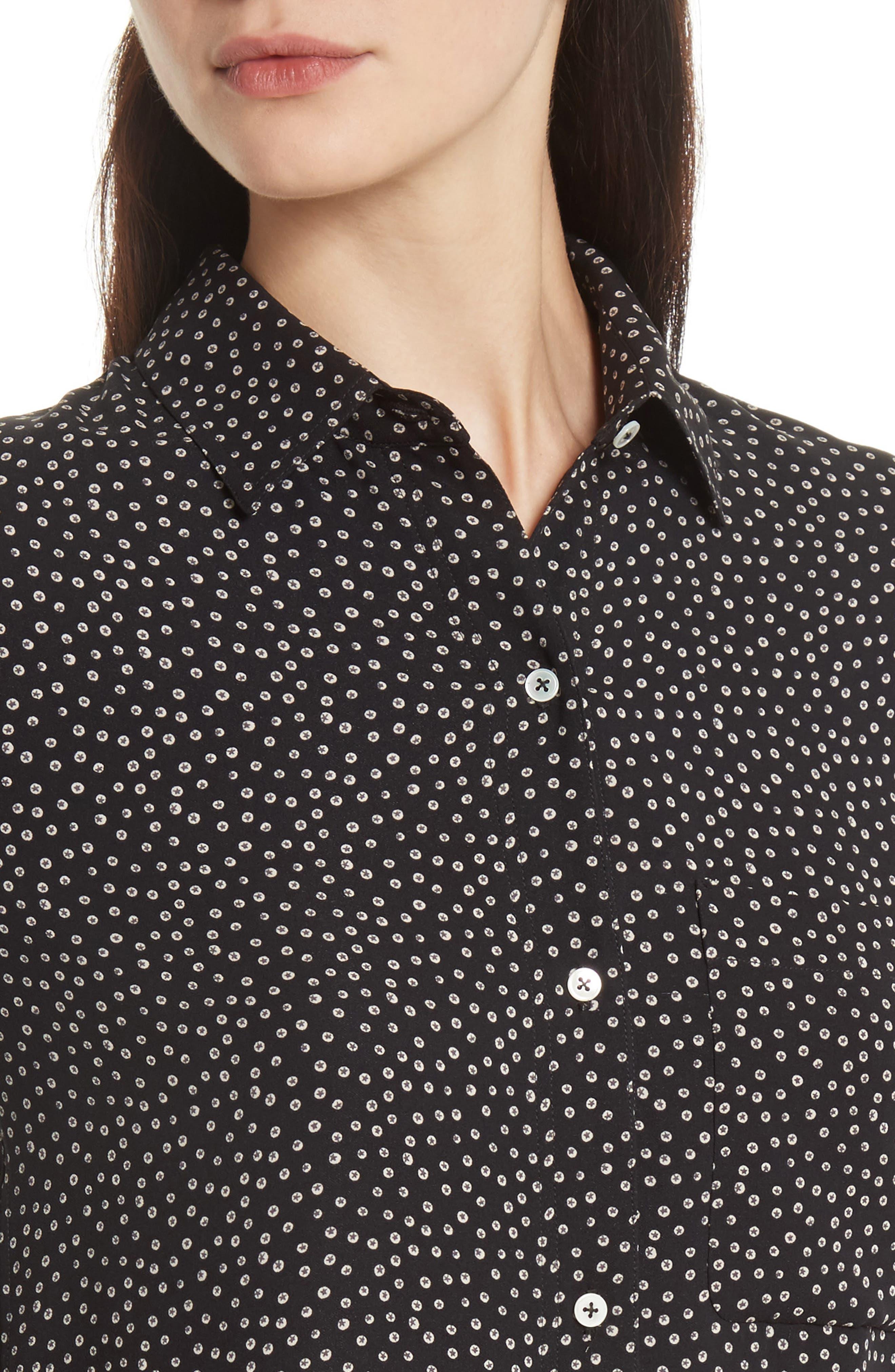 Alternate Image 4  - Vince Celestial Polka Dot Slim Shirt