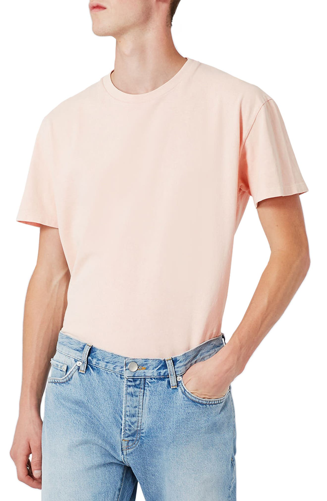 LTD Collection Washed T-Shirt,                         Main,                         color, Pink