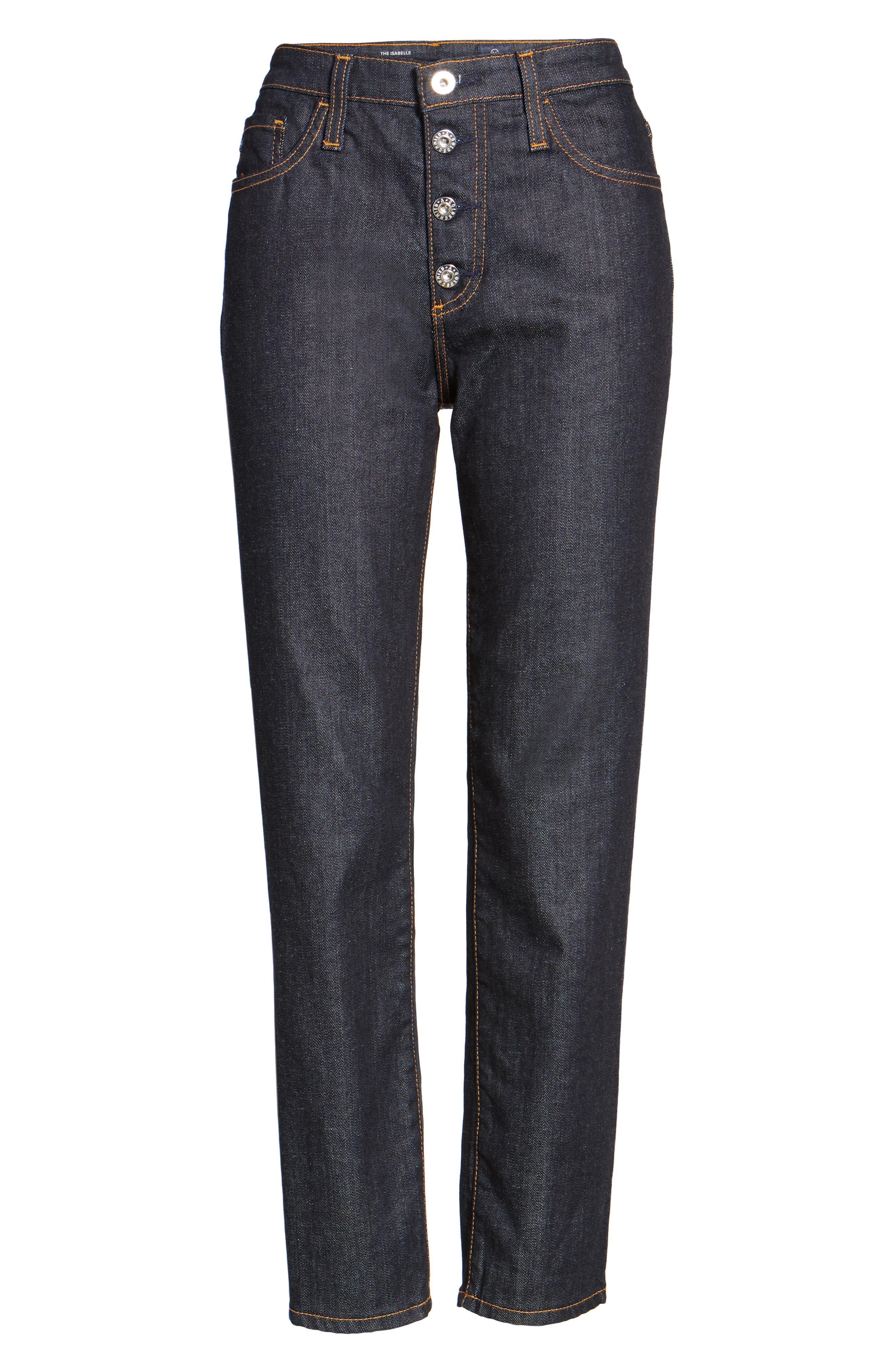 Alternate Image 6  - AG Isabelle High Waist Ankle Jeans (Indigo Autumn)
