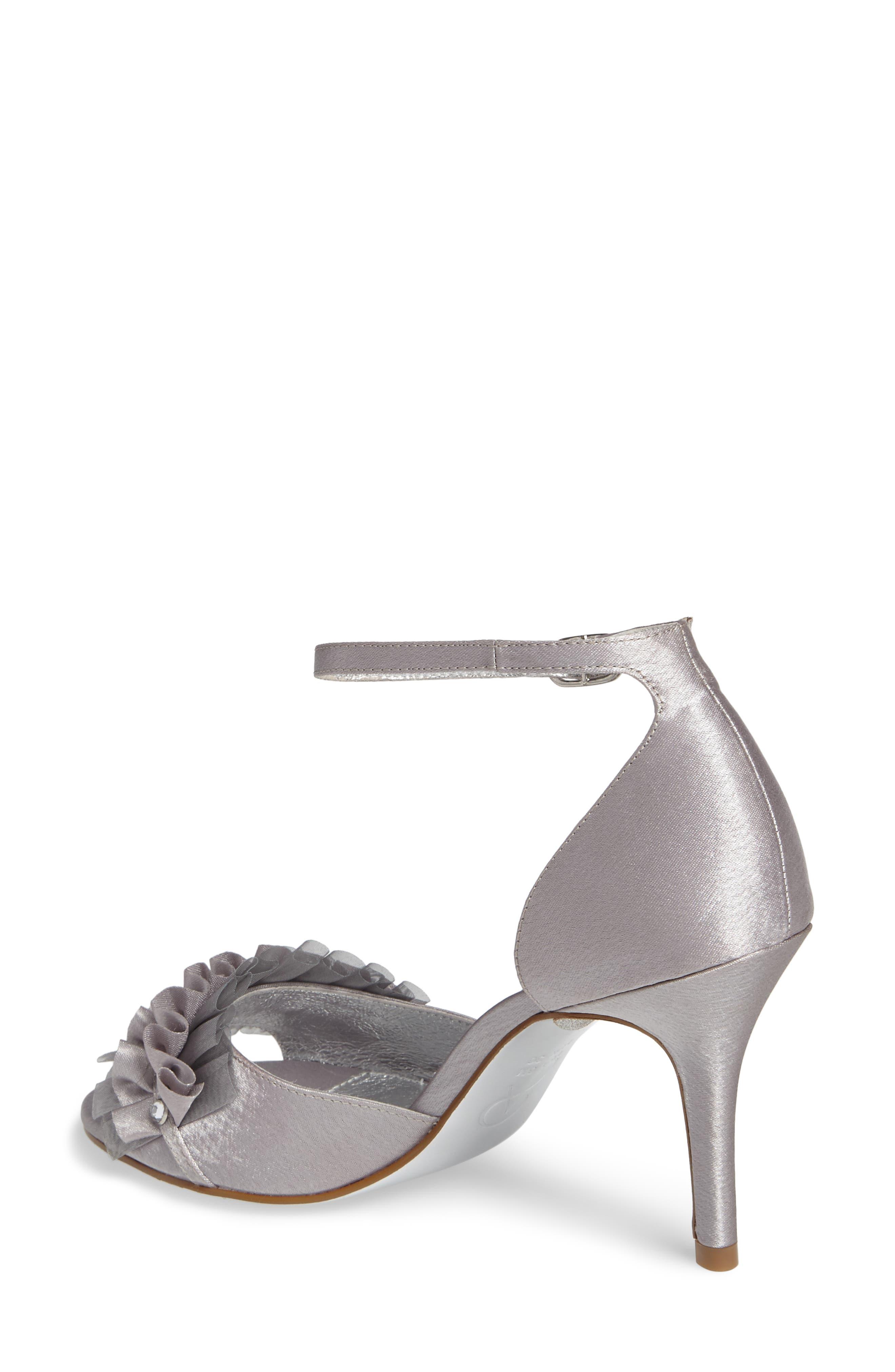 Alternate Image 2  - Adrianna Papell Alcott Chiffon Ruffle Sandal (Women)