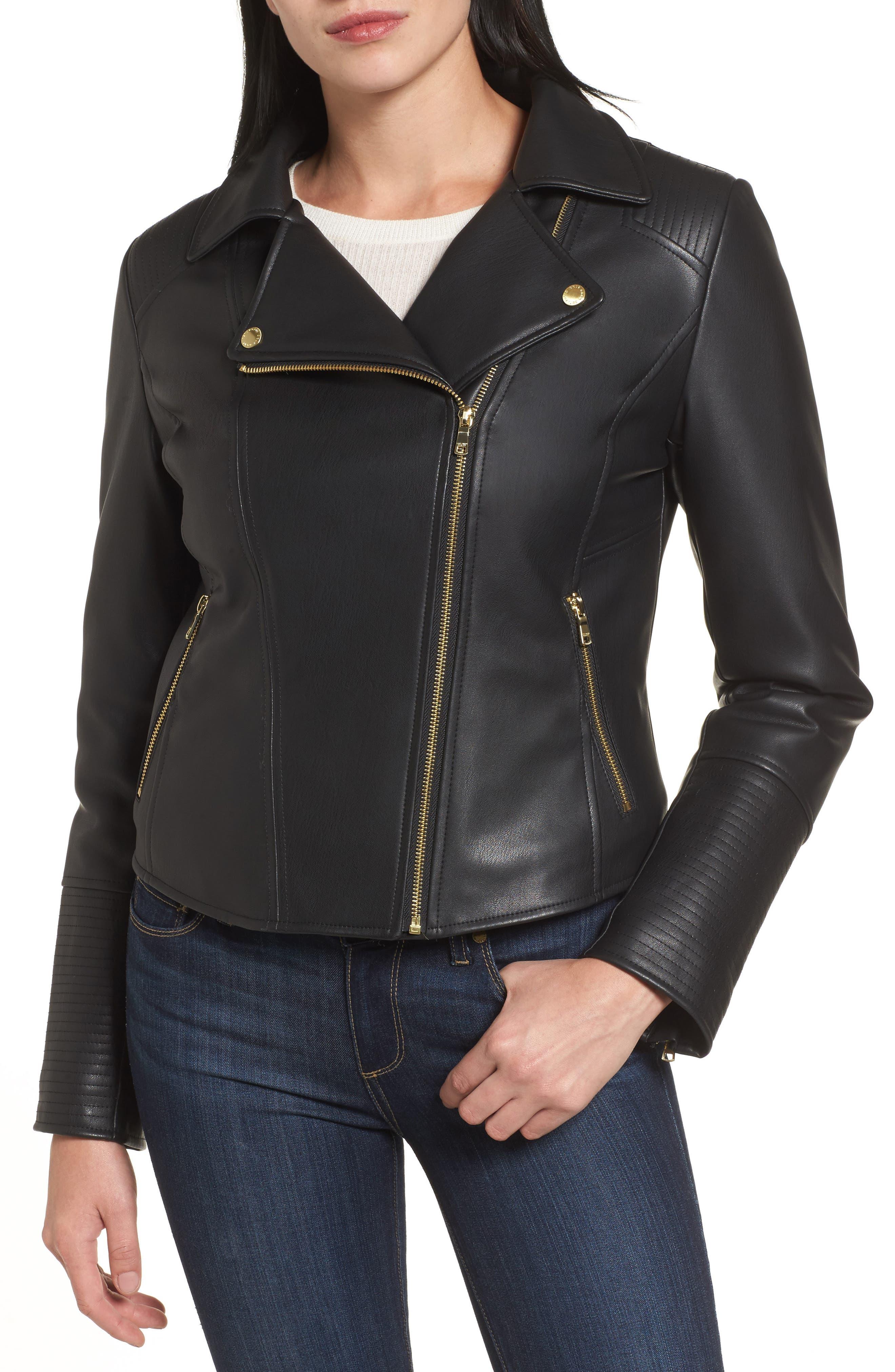 Alternate Image 4  - Cole Haan Signature Faux Leather Jacket with Detachable Faux Fur