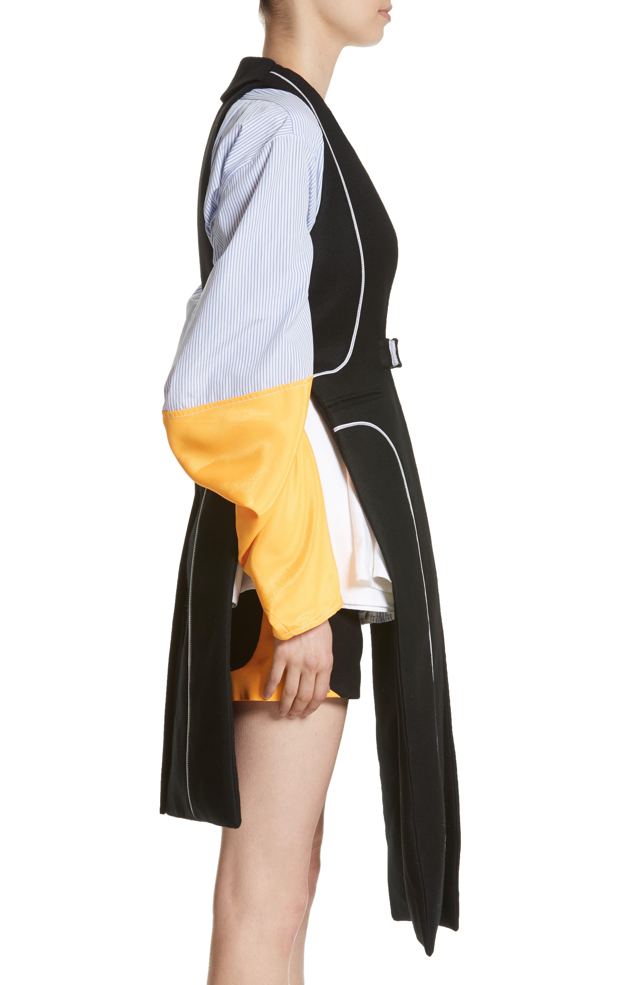 Wool Vest,                             Alternate thumbnail 3, color,                             Black