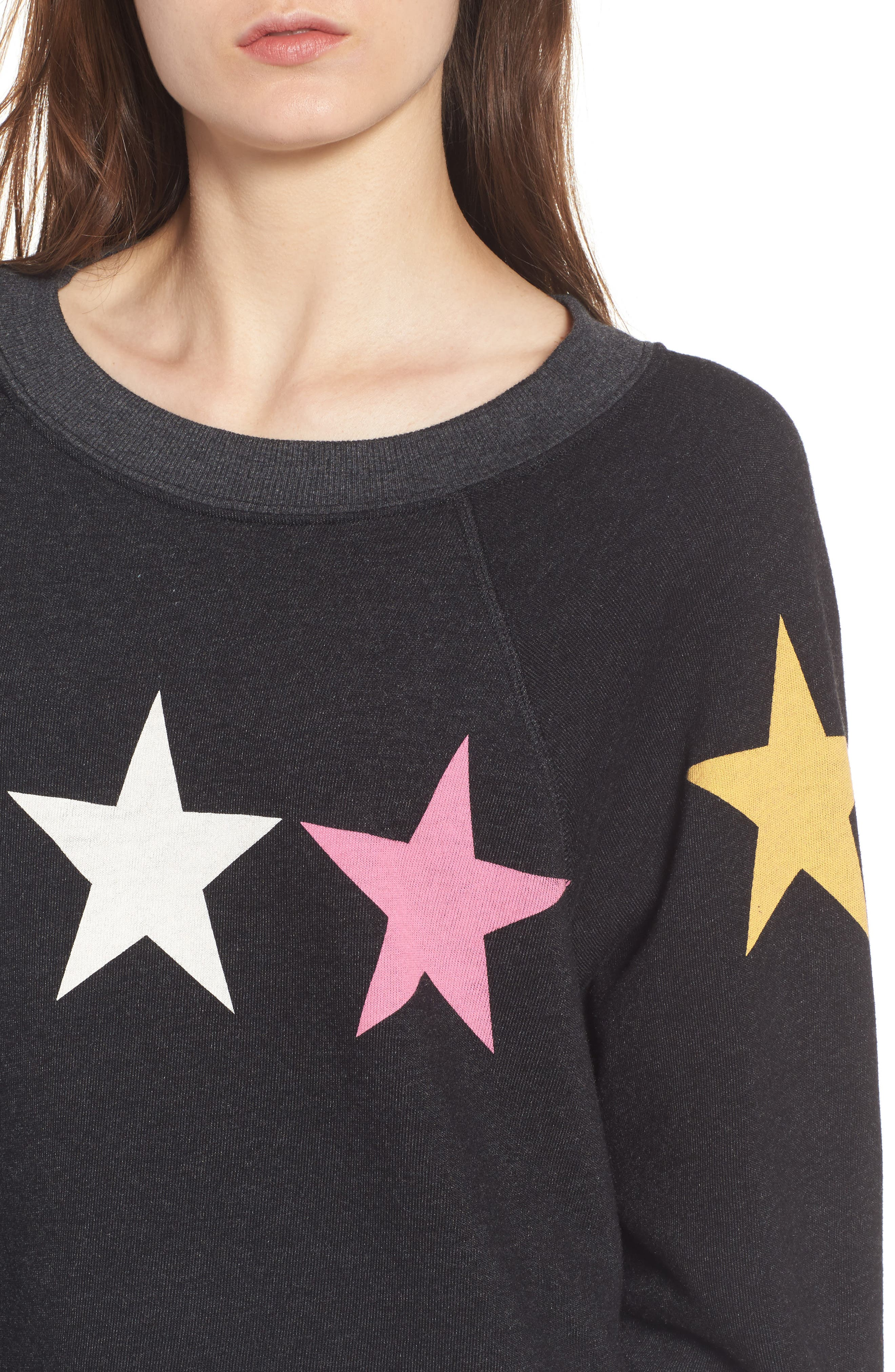 Arcade Stars Sommers Sweatshirt,                             Alternate thumbnail 5, color,                             Heathered Black