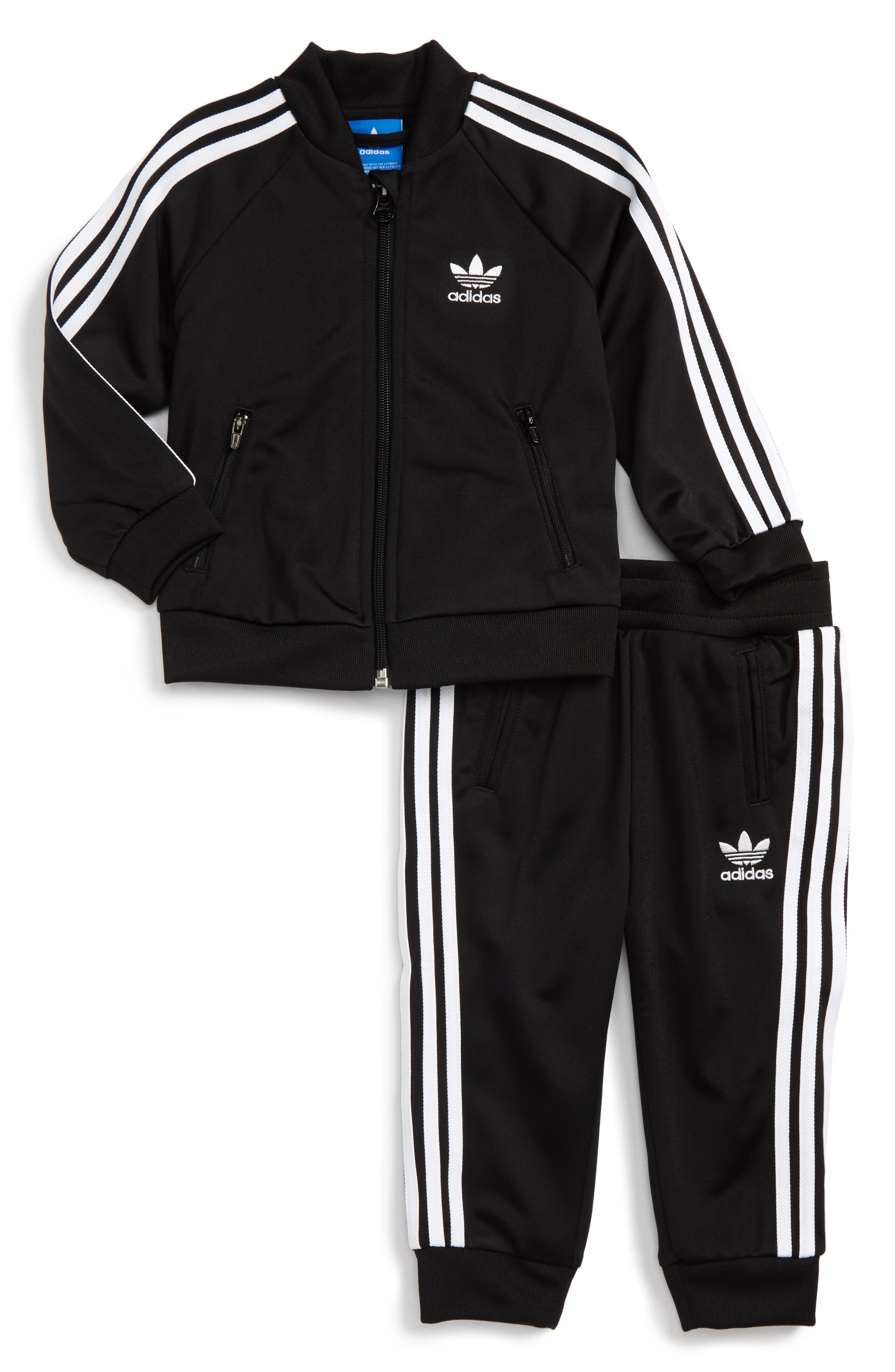 Logo Track Jacket & Pants Set,                         Main,                         color, Black/ White