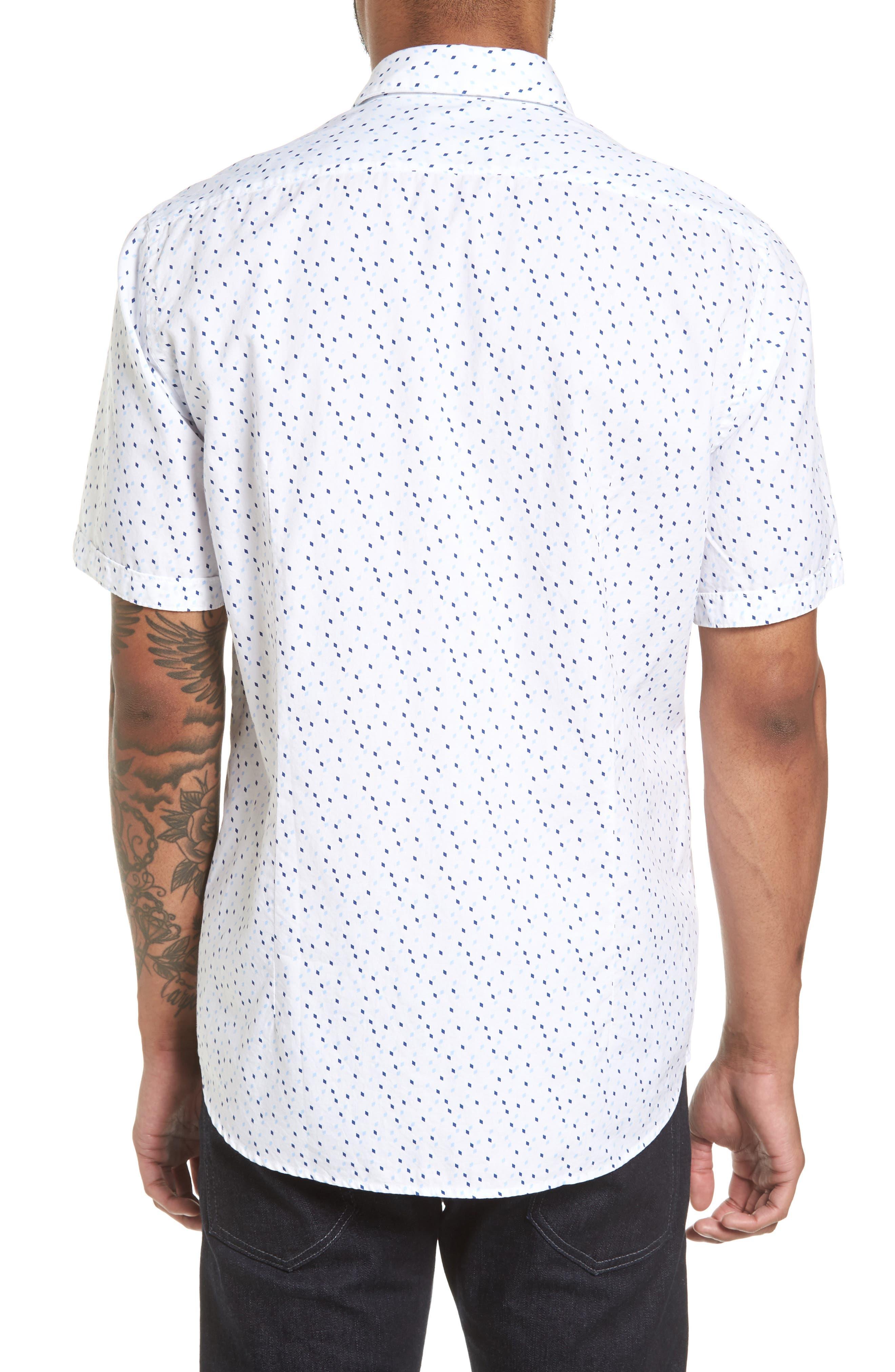 Luka Regular Fit Print Sport Shirt,                             Alternate thumbnail 3, color,                             Navy
