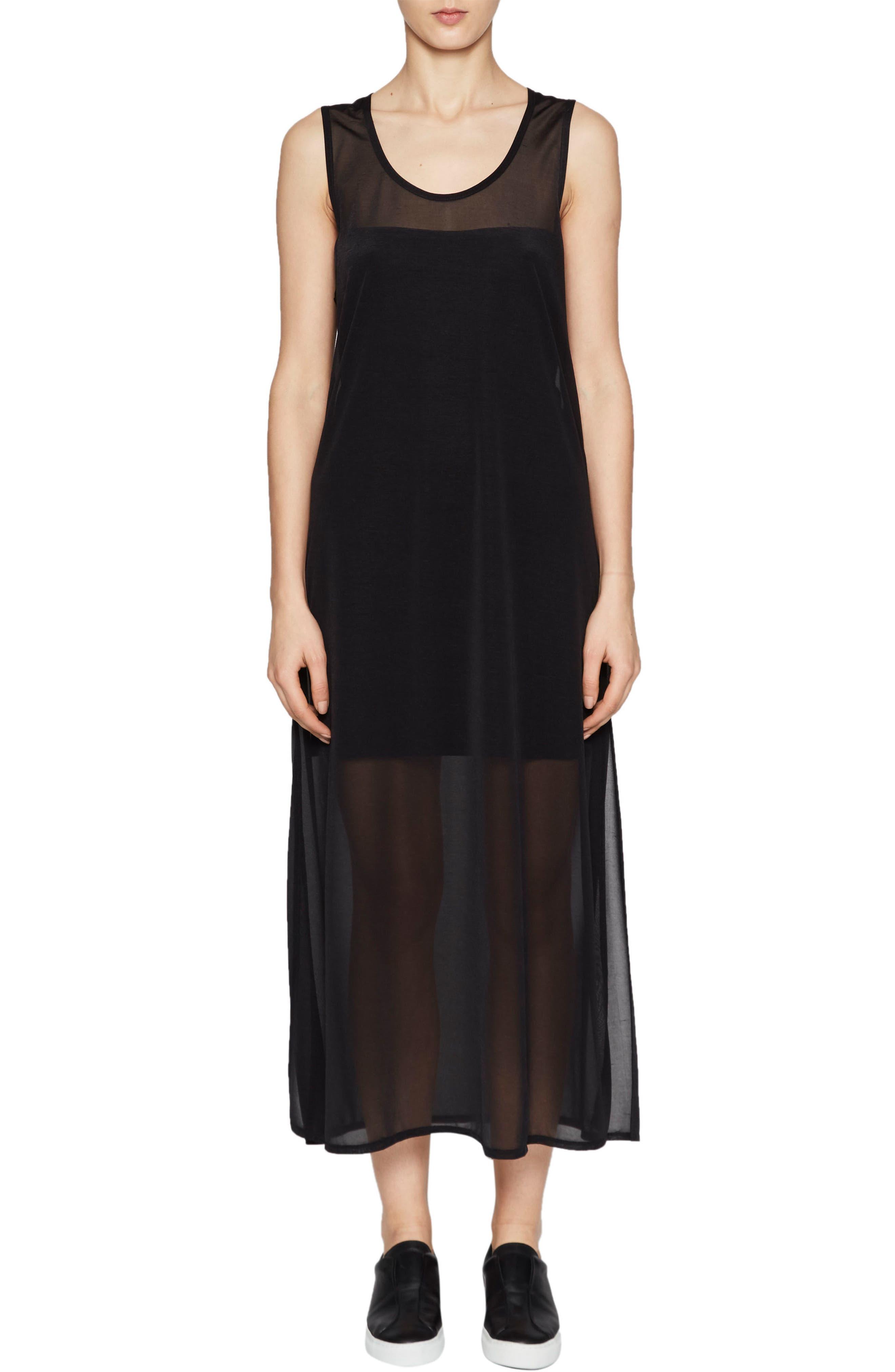 Celia Jersey Midi Dress,                         Main,                         color, Black