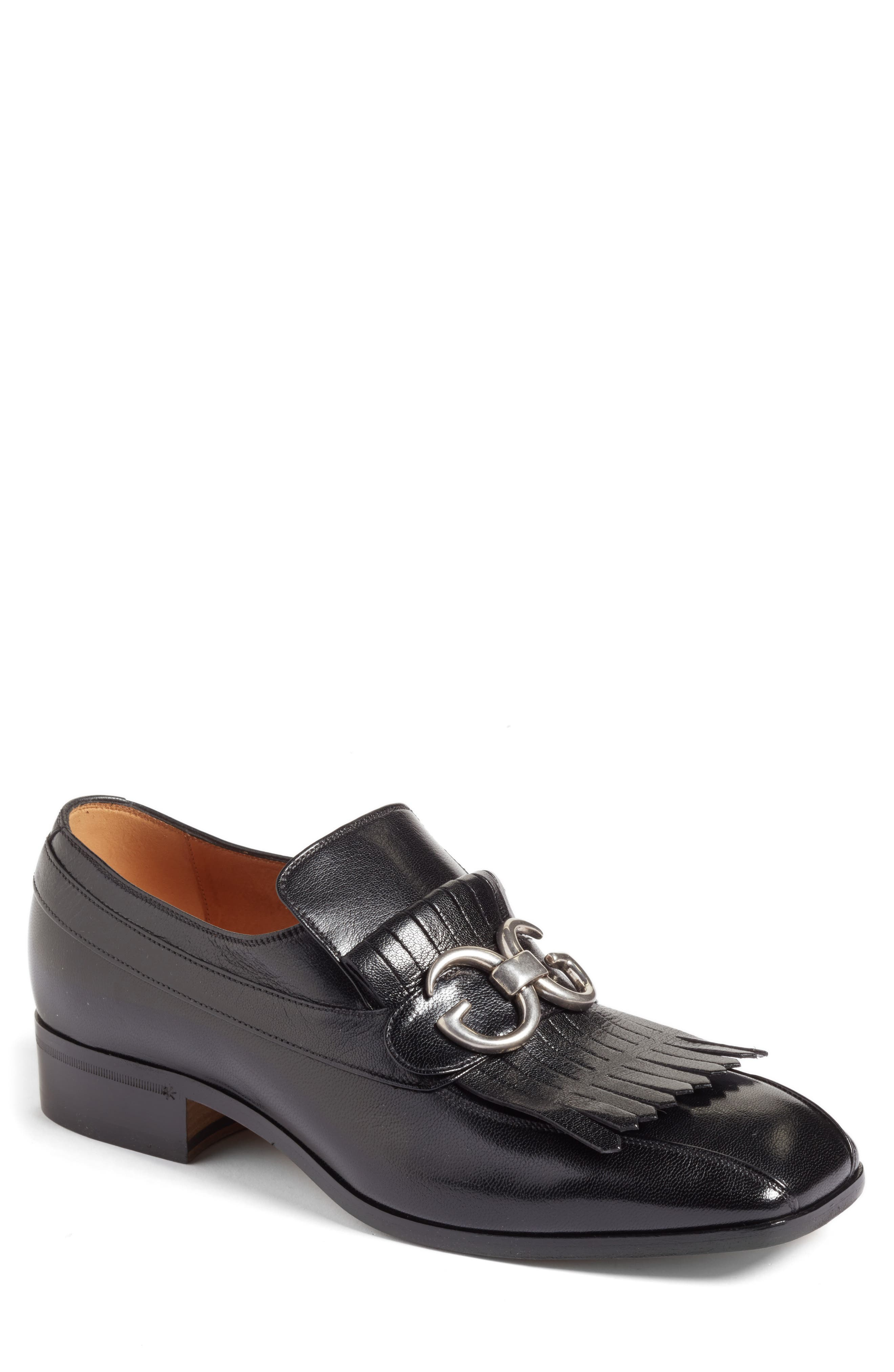 Alternate Image 1 Selected - Gucci Novel Marmont Kiltie Loafer (Men)