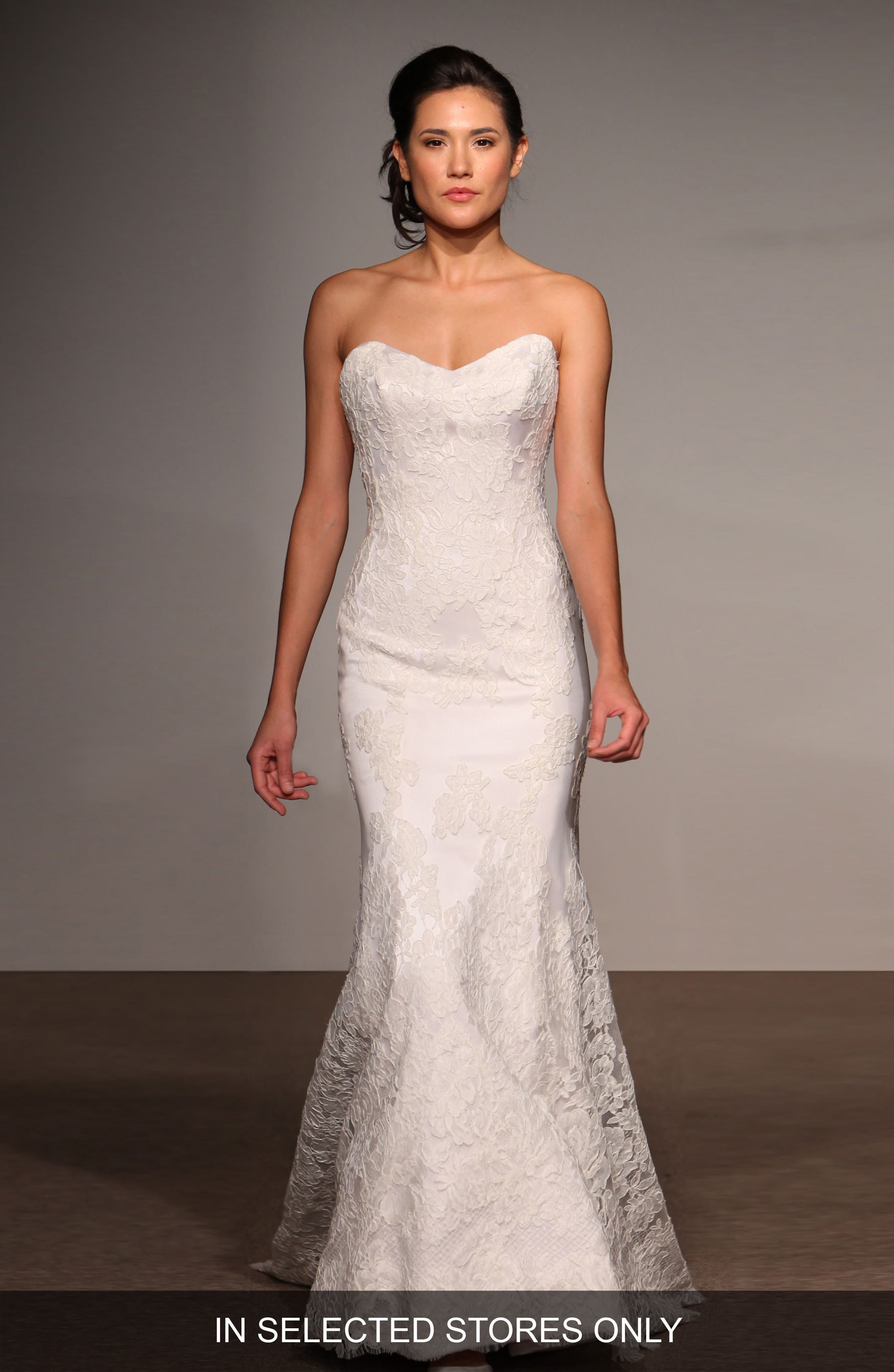 Main Image - Anna Maier Couture Lea Strapless Lace Trumpet Gown