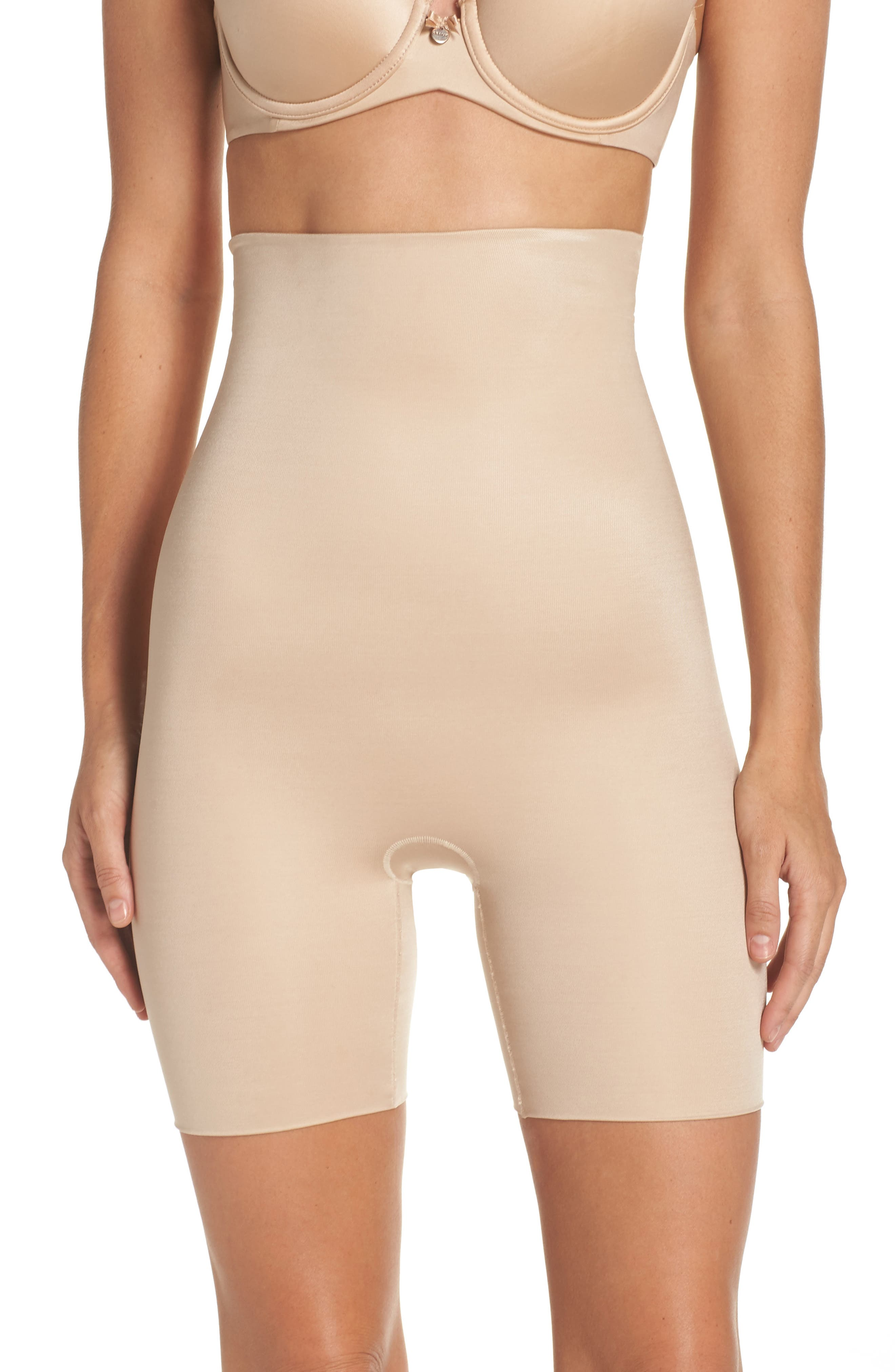 Main Image - SPANX® Power Conceal-Her High Waist Shaping Shorts