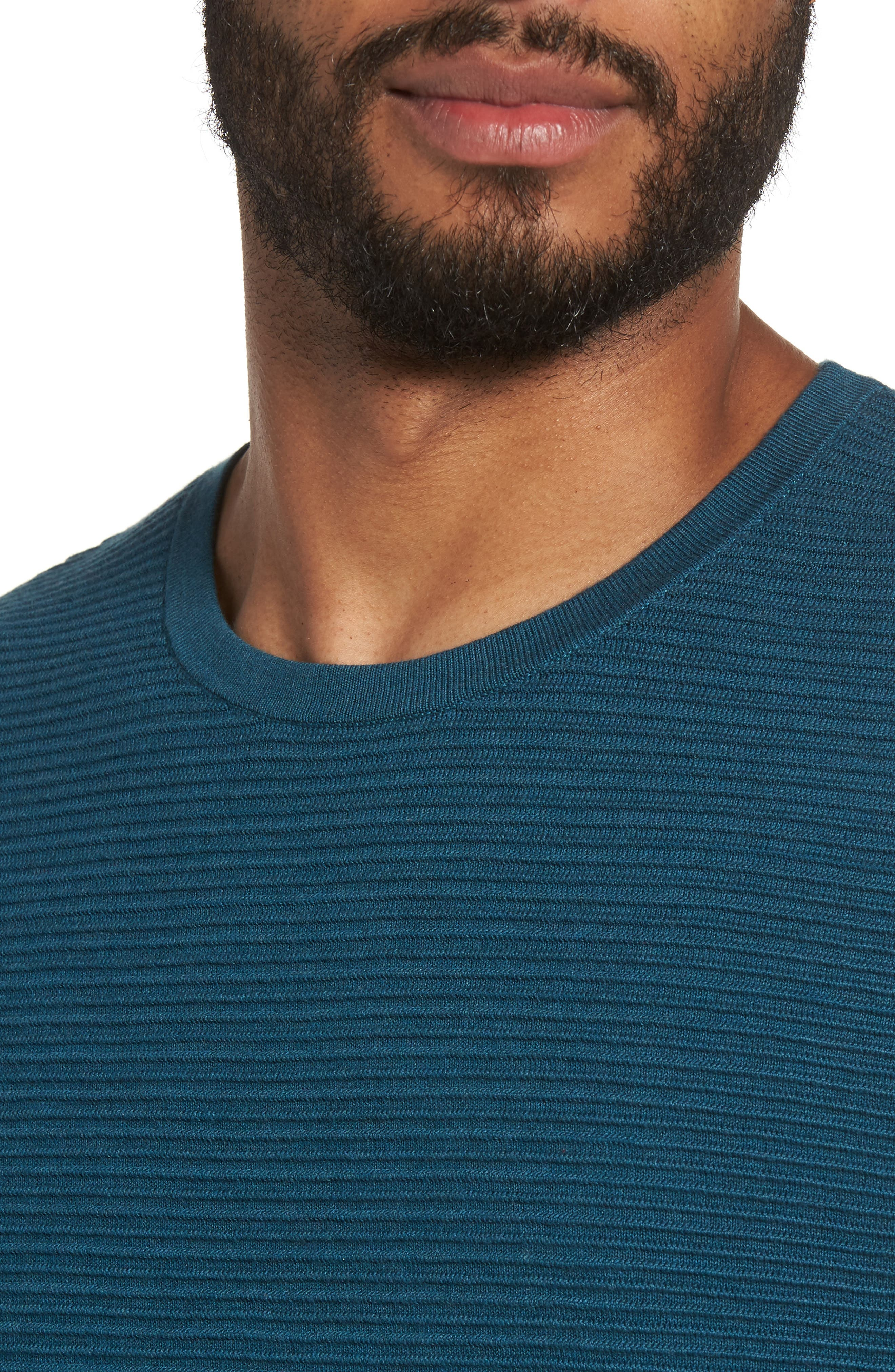 Alternate Image 4  - Calibrate Ottoman Ribbed Crewneck Sweater