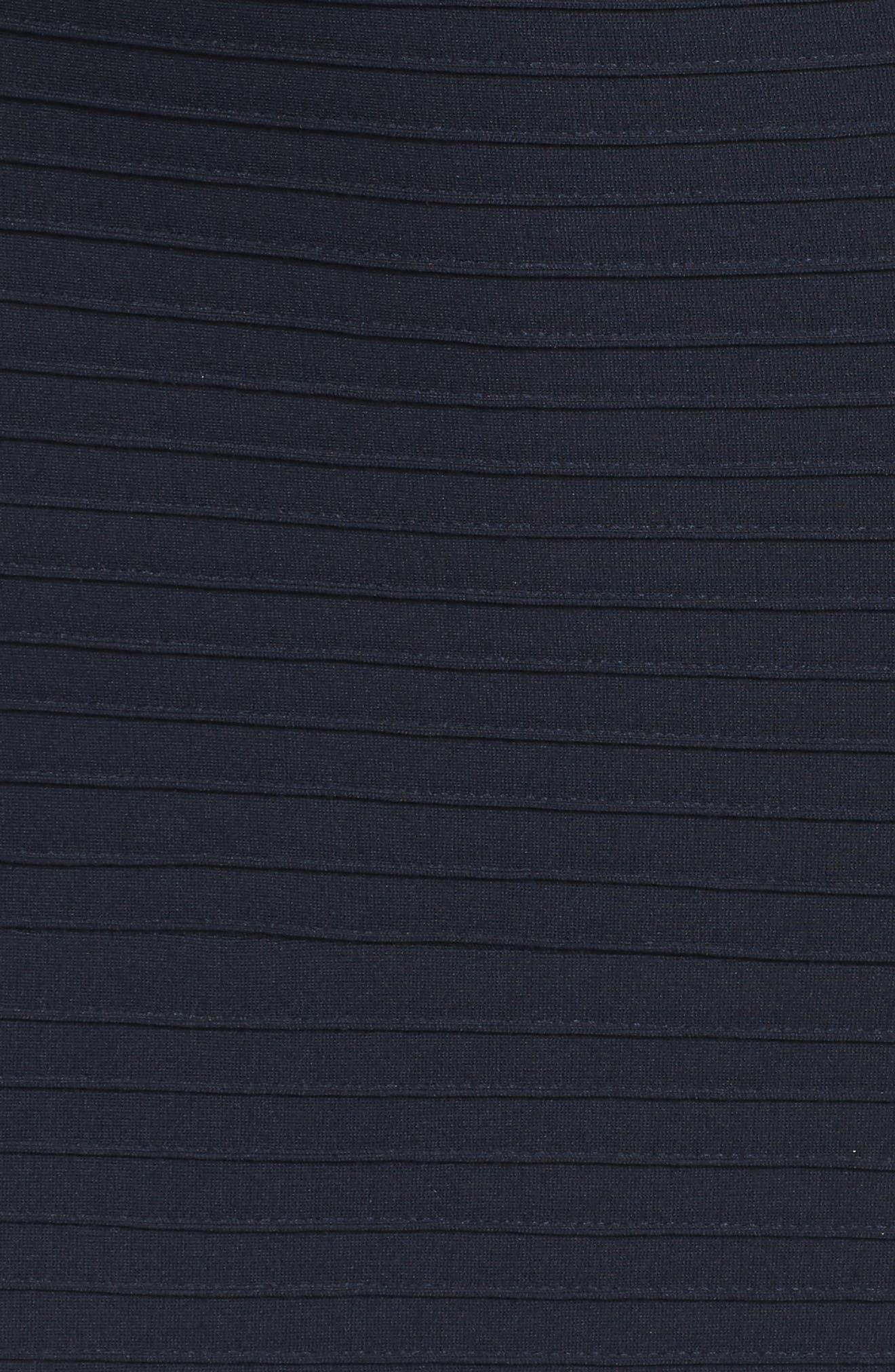 Alternate Image 5  - Tadashi Shoji Jersey Cold-Shoulder Gown (Regular & Petite)