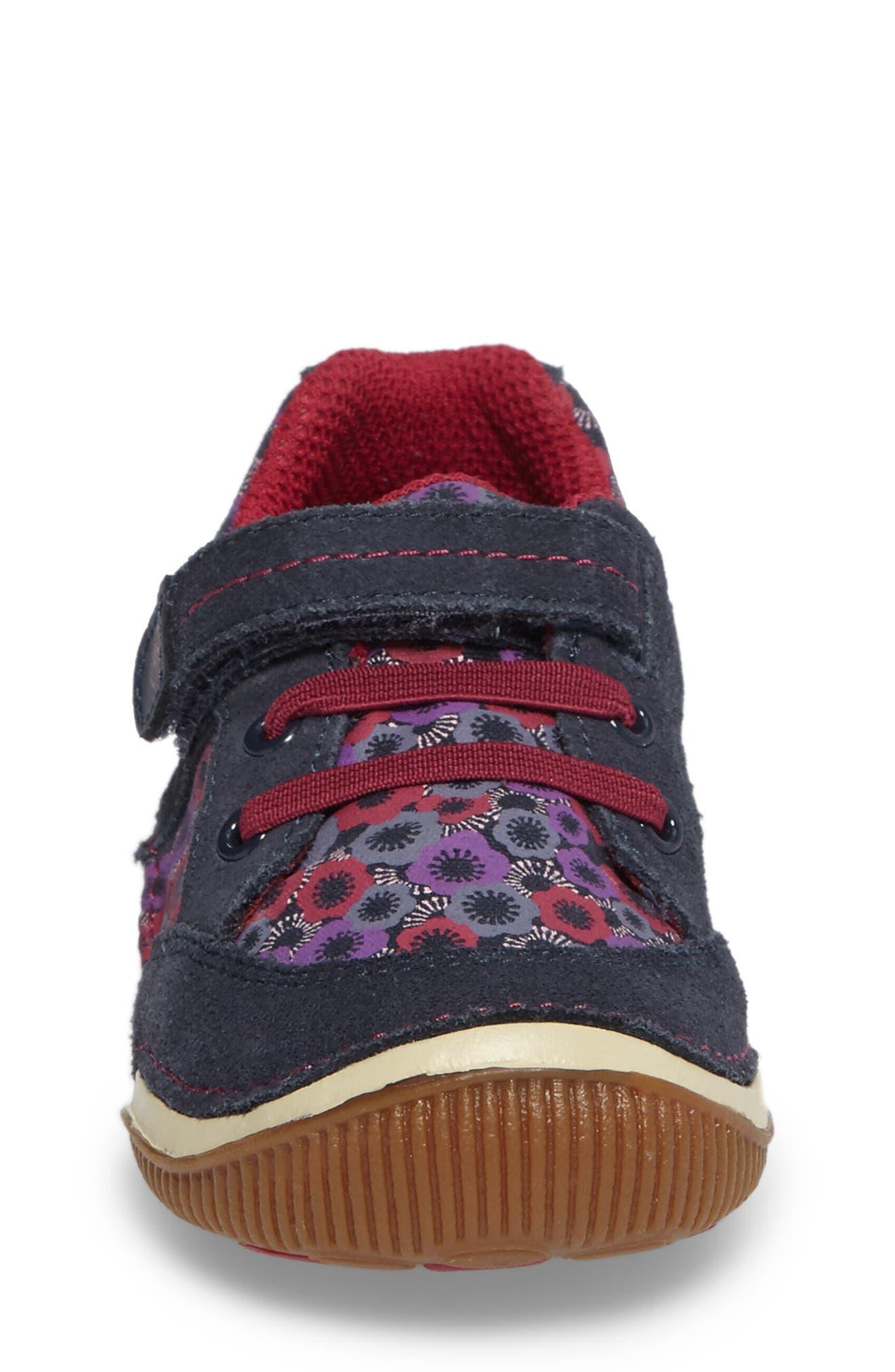 Armorie Flower Print Sneaker,                             Alternate thumbnail 4, color,                             Navy