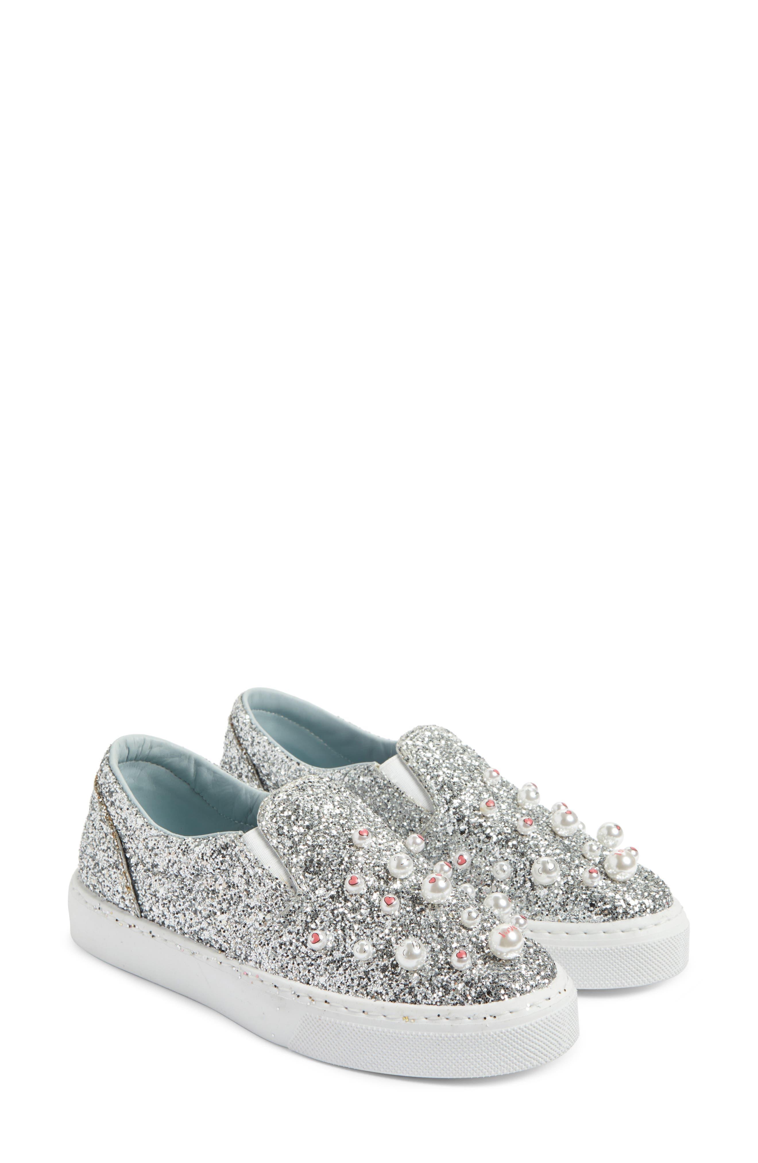 Candies Embellished Slip-On Sneaker,                             Alternate thumbnail 2, color,                             Silver
