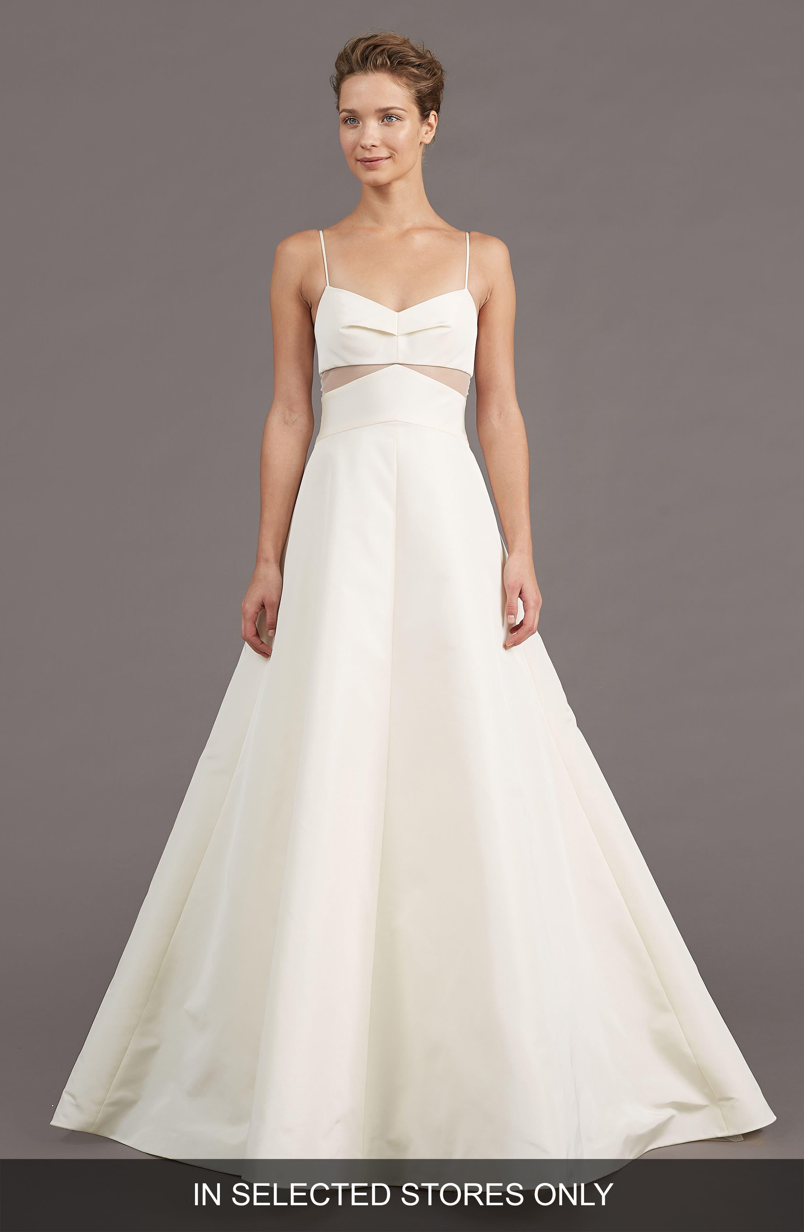 Main Image - Amsale Uma Silk Blend A-Line Gown