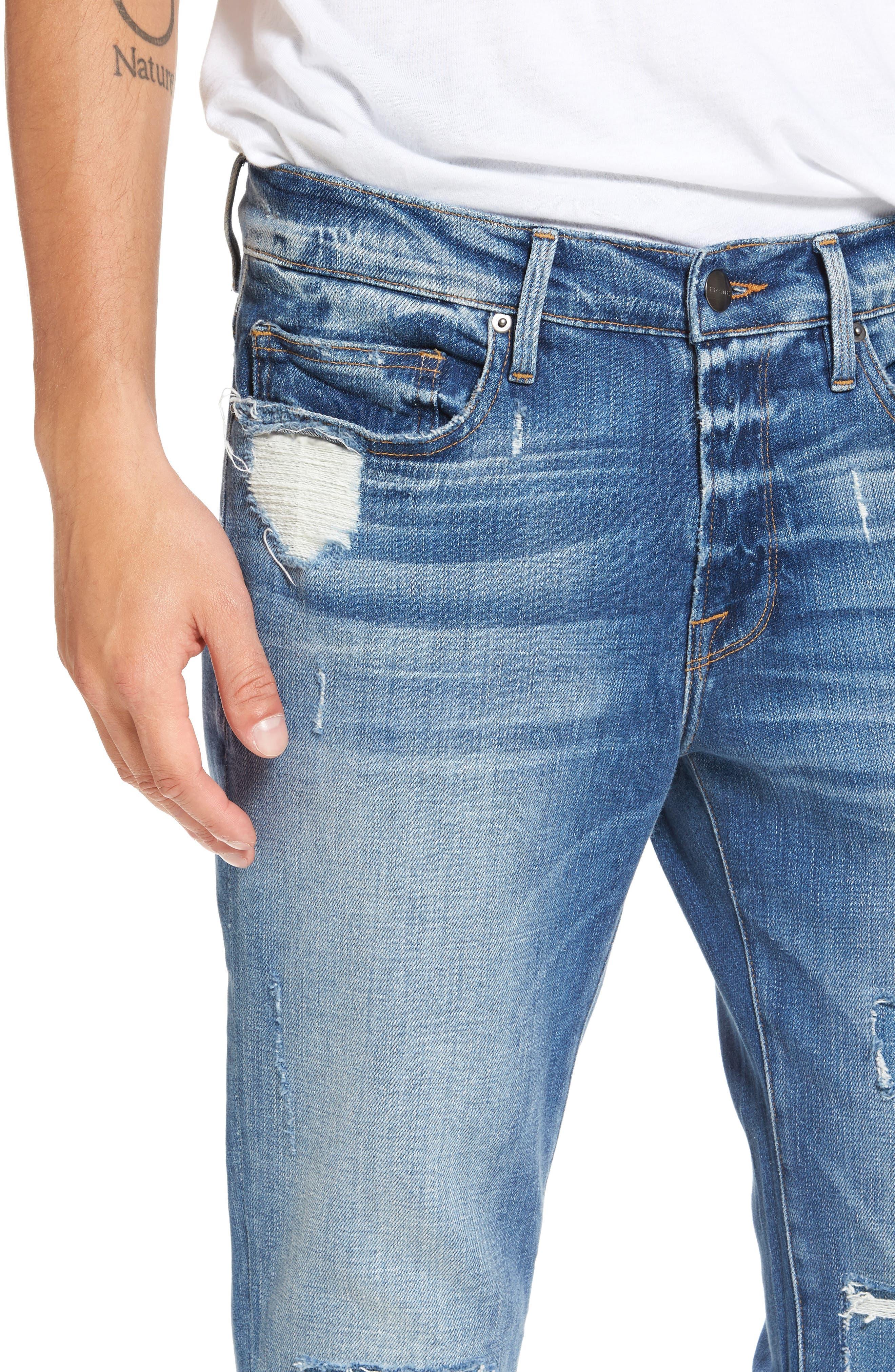 Alternate Image 4  - FRAME L'Homme Skinny Jeans (Frazier)
