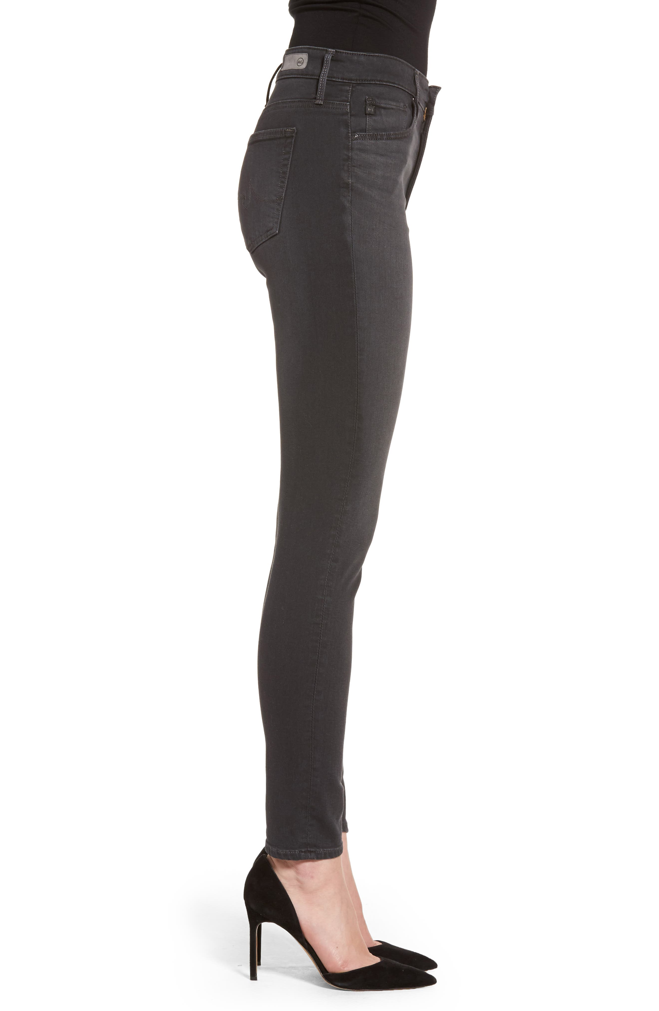 Alternate Image 3  - AG Farrah High Waist Ankle Skinny Jeans (Grey Mist)