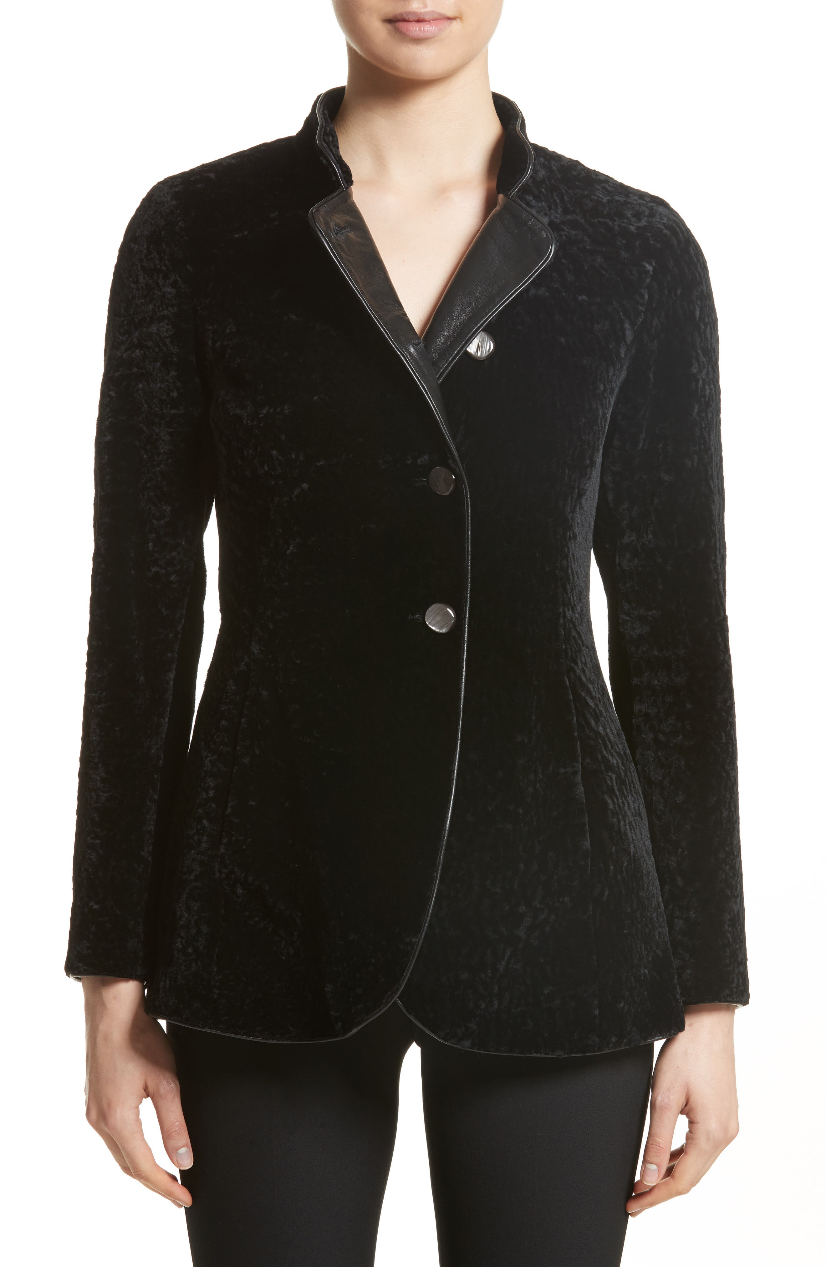 Alternate Image 1 Selected - Armani Collezioni Genuine Shearling Jacket