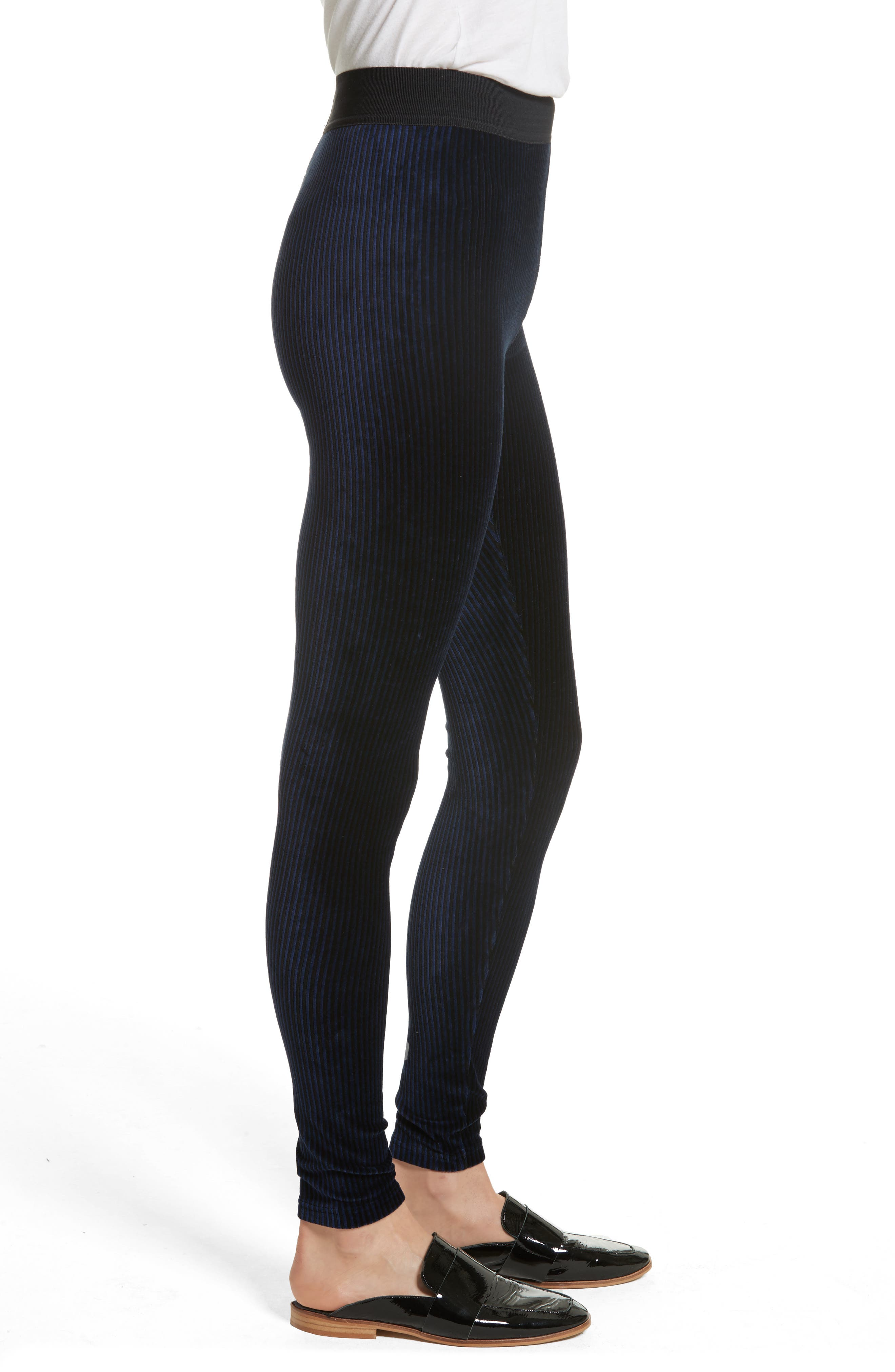 Alternate Image 3  - Free People Here We Go High Waist Stripe Velvet Leggings